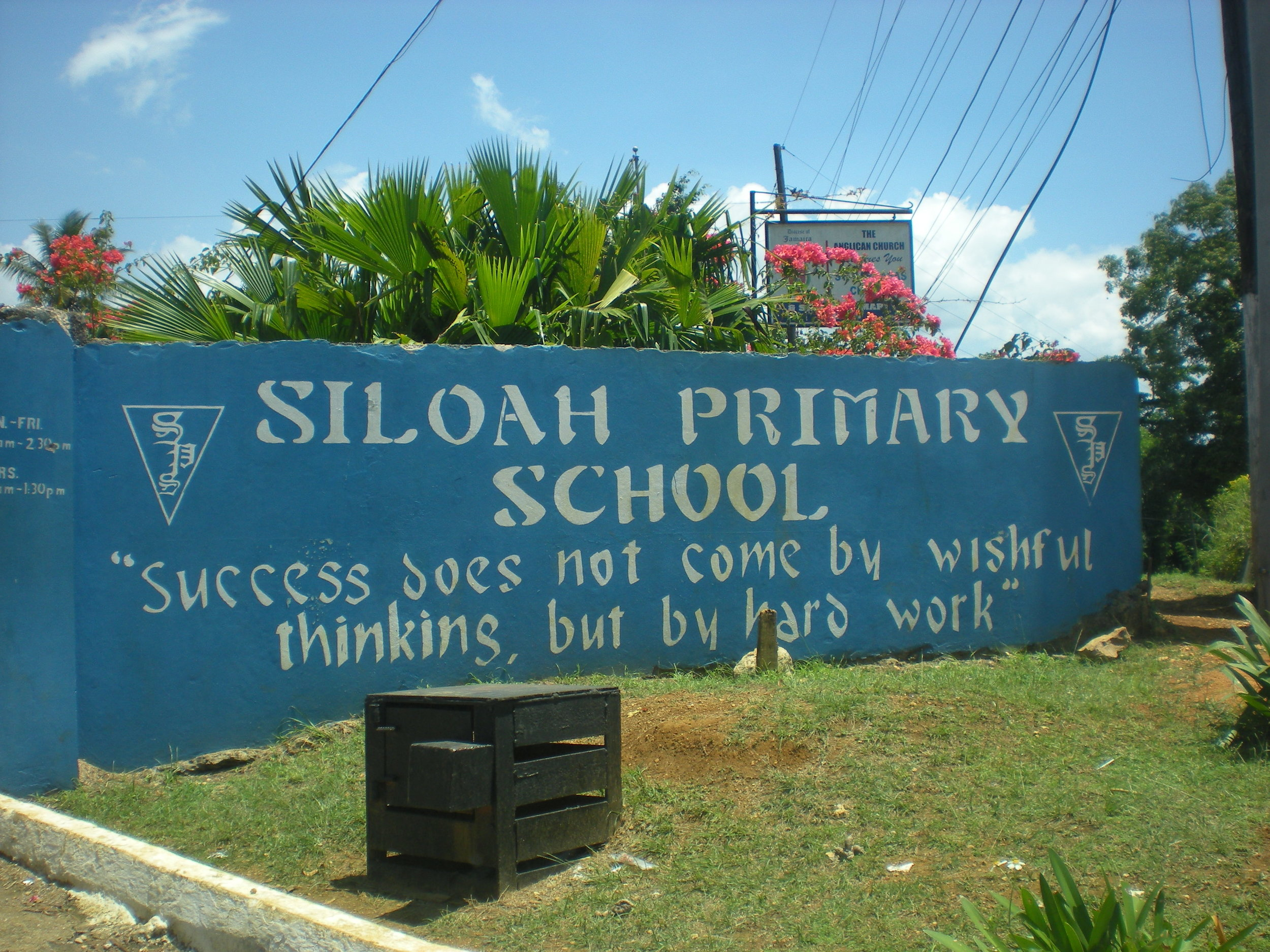 Sucess does not come by wishful thinking, but by hard work. Siloah primary school.