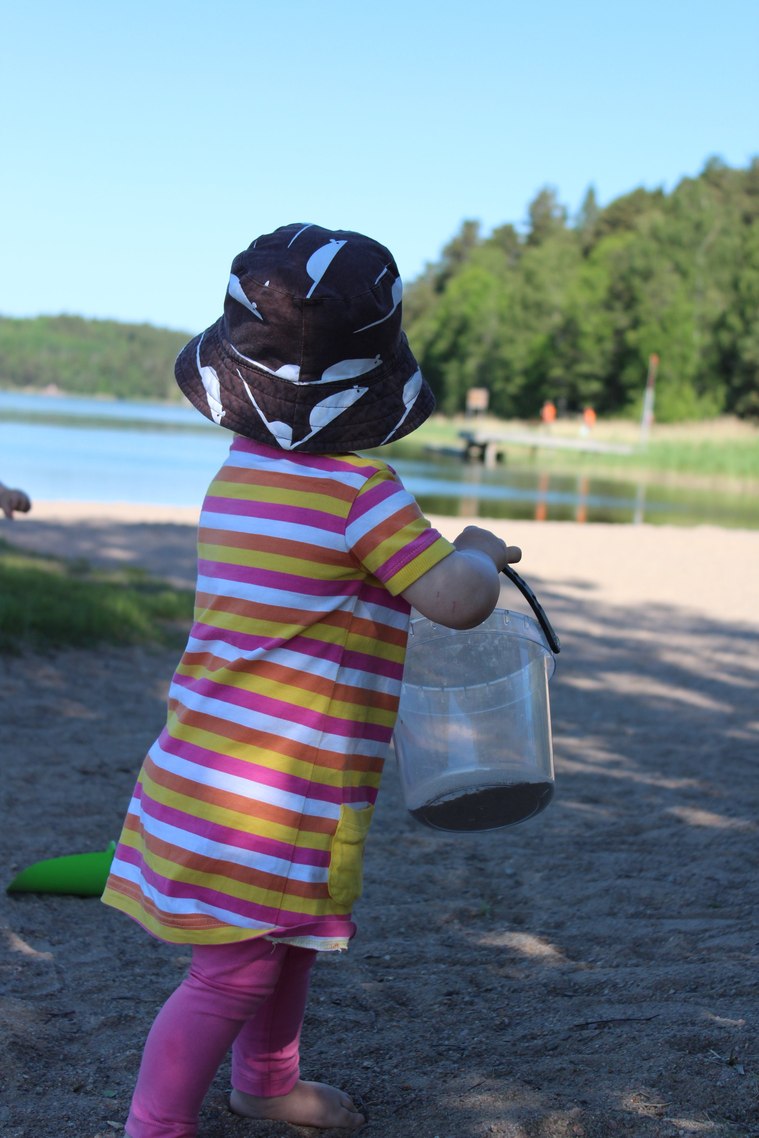 Inte helt fel att upptäcka Vaxholms stränder heller! Här Eriksö-badet.