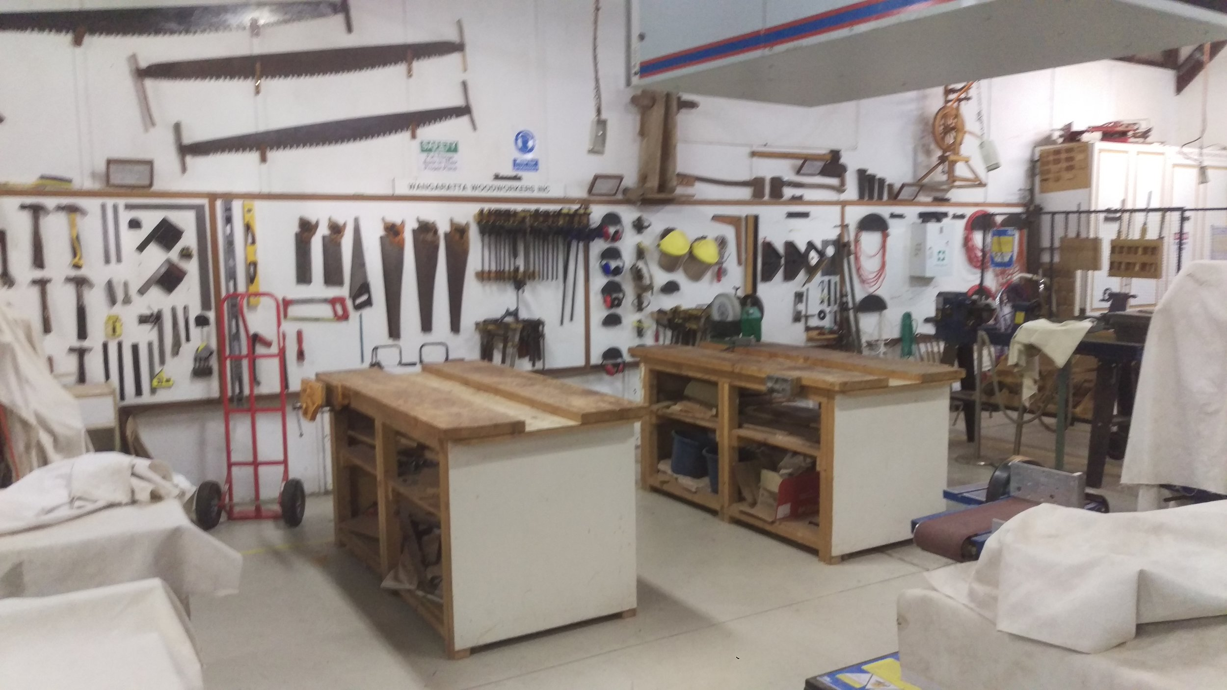 The Woodies Shed boasts a wide range of tools and equipment. From lathes and turning tools, hand tools, table saws and bandsaws, drilling, scrollsaws, planer thicknesser, jointer, sanders, pyrography, and much more.