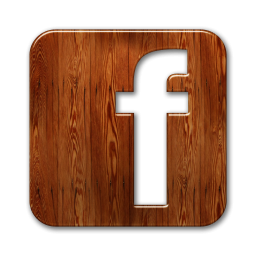 facebook wooden icon