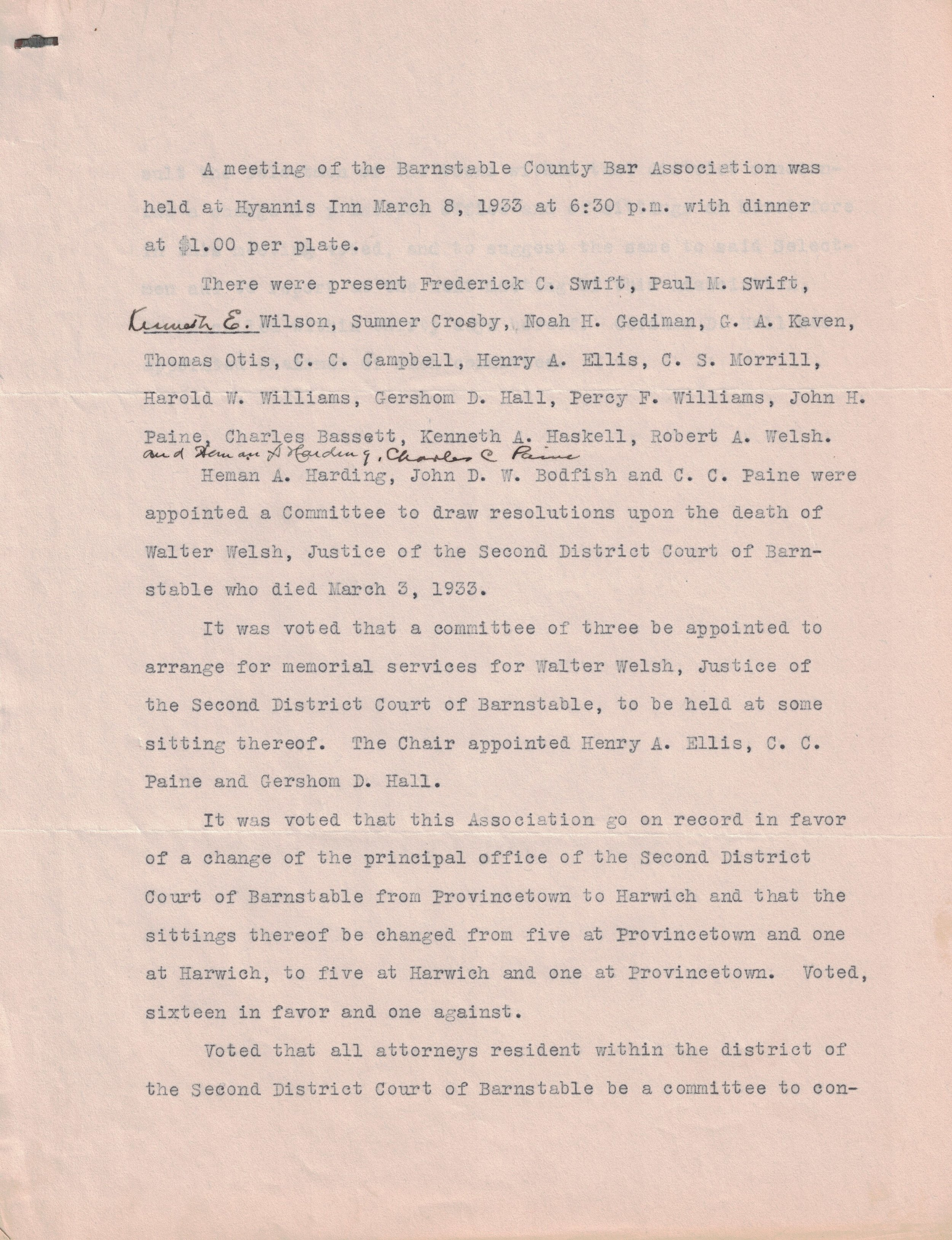 1933 Meeting (Page 1)