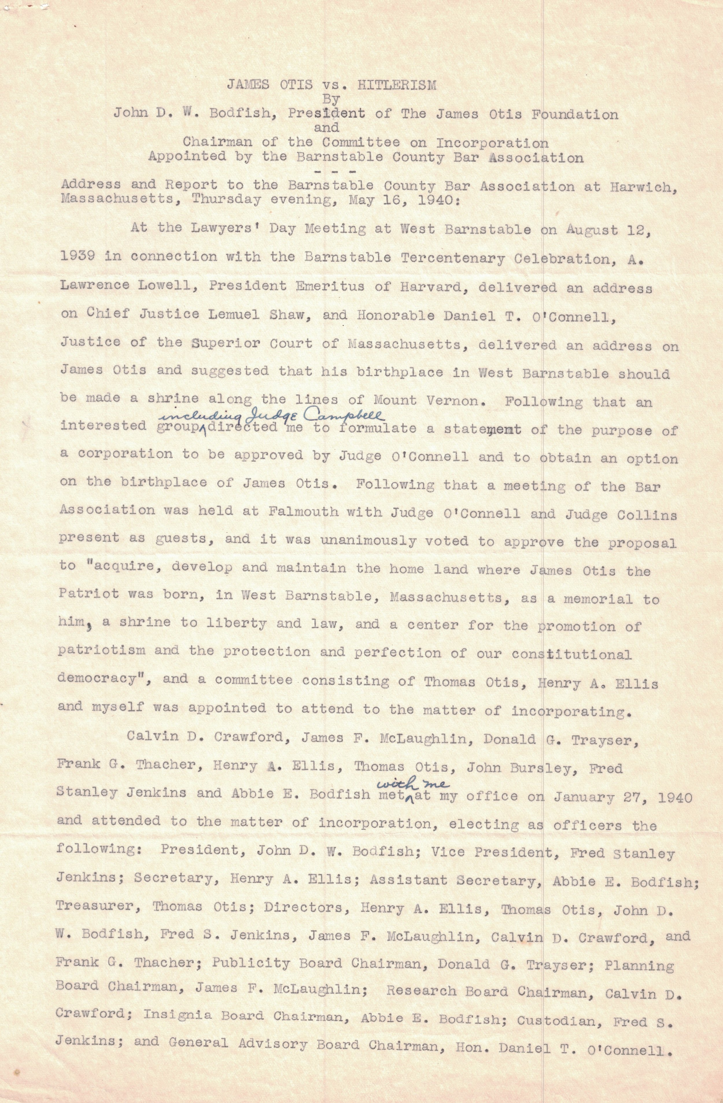 1940 Letter (Page 1)