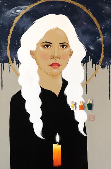 """""""Mary"""" acrylic on canvas 36x24 ©Sara Drescher"""