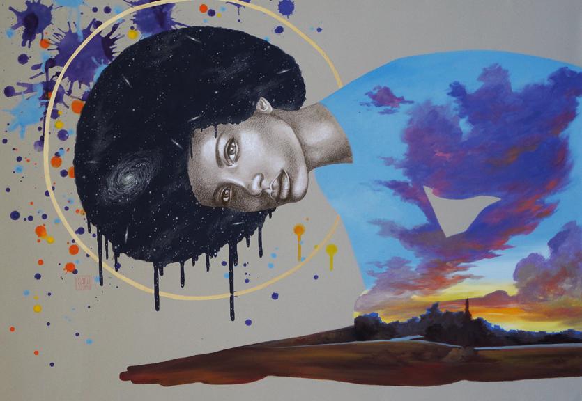 """Denouement"" mixed media 36x24 ©Sara Drescher-private collection"