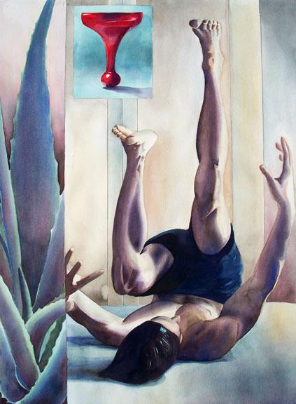 """""""Balm"""" watercolor ©Sara Drescher-private collection"""