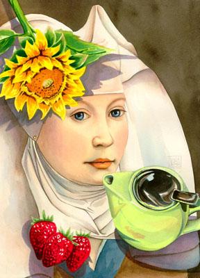 """Sunflower"" watercolor ©Sara Drescher-private collection"