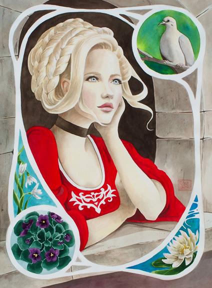 """Vision"" watercolor ©Sara Drescher-private collection"