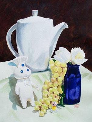 """""""White"""" watercolor ©Sara Drescher-private collection"""