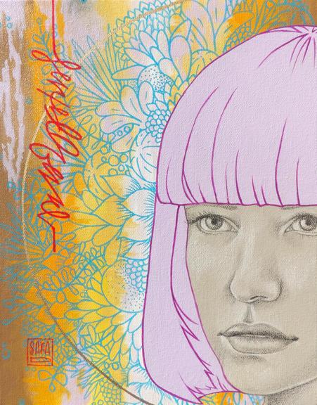 """Known"" mixed media 14x11 ©Sara Drescher"