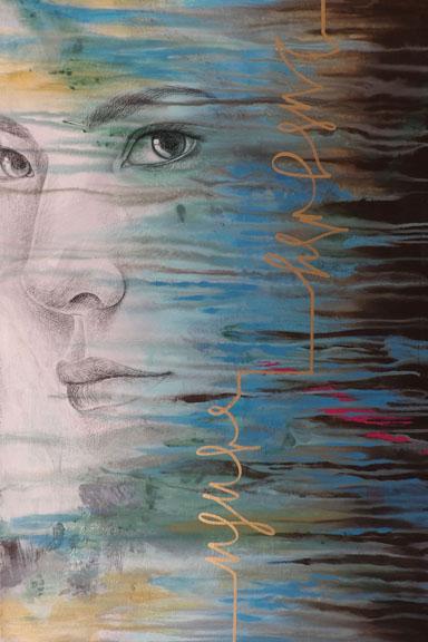 """Forgiveness"" 36x24 colored pencil and acrylic paint ©Sara Drescher"