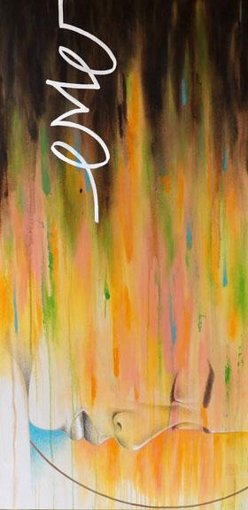"""""""Anointed"""" mixed media 48x24 ©Sara Drescher"""
