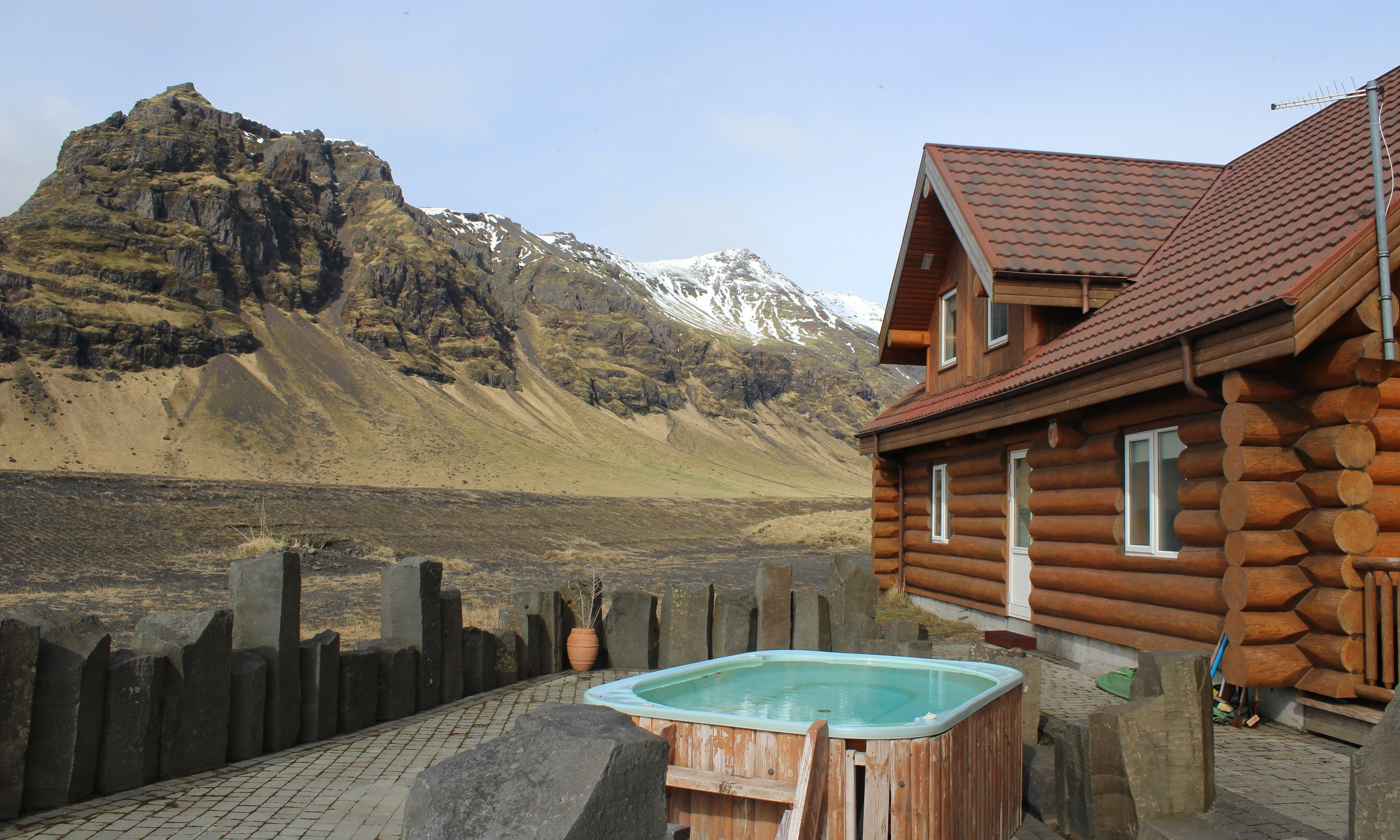 Our beautiful log cabin with accompanying hot tub