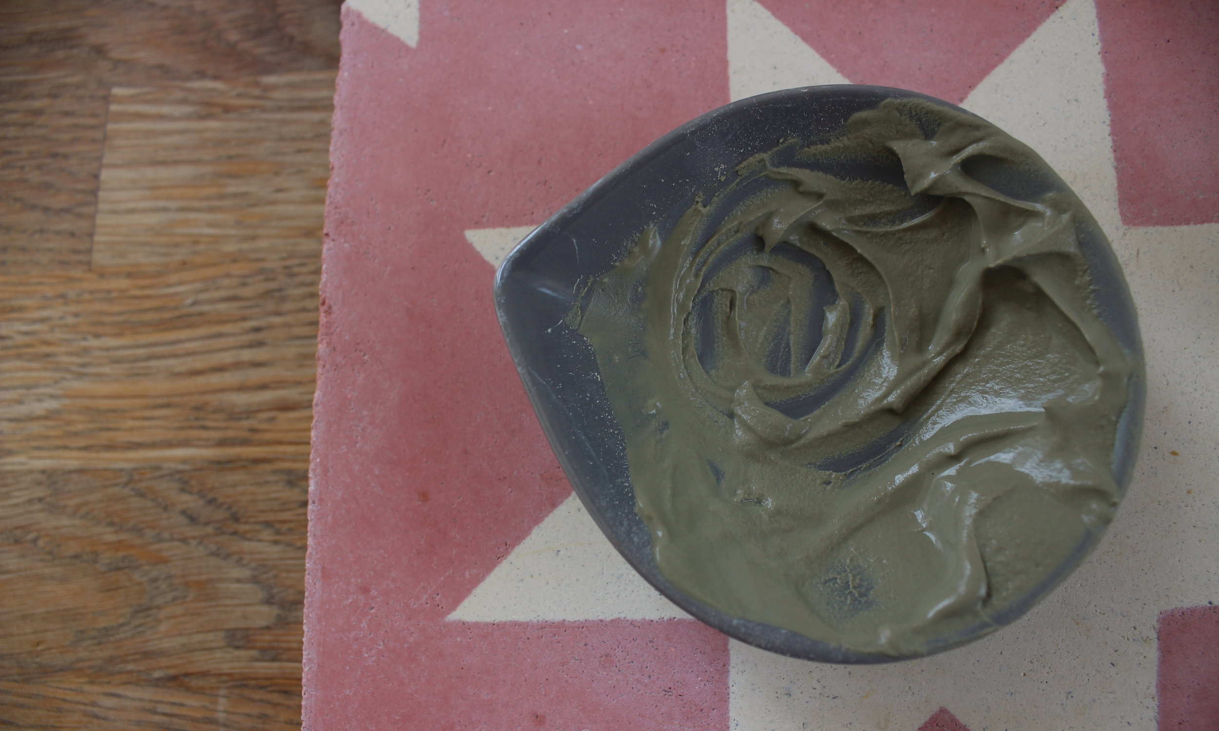 Mixing Umbrian clay with orange blossom water