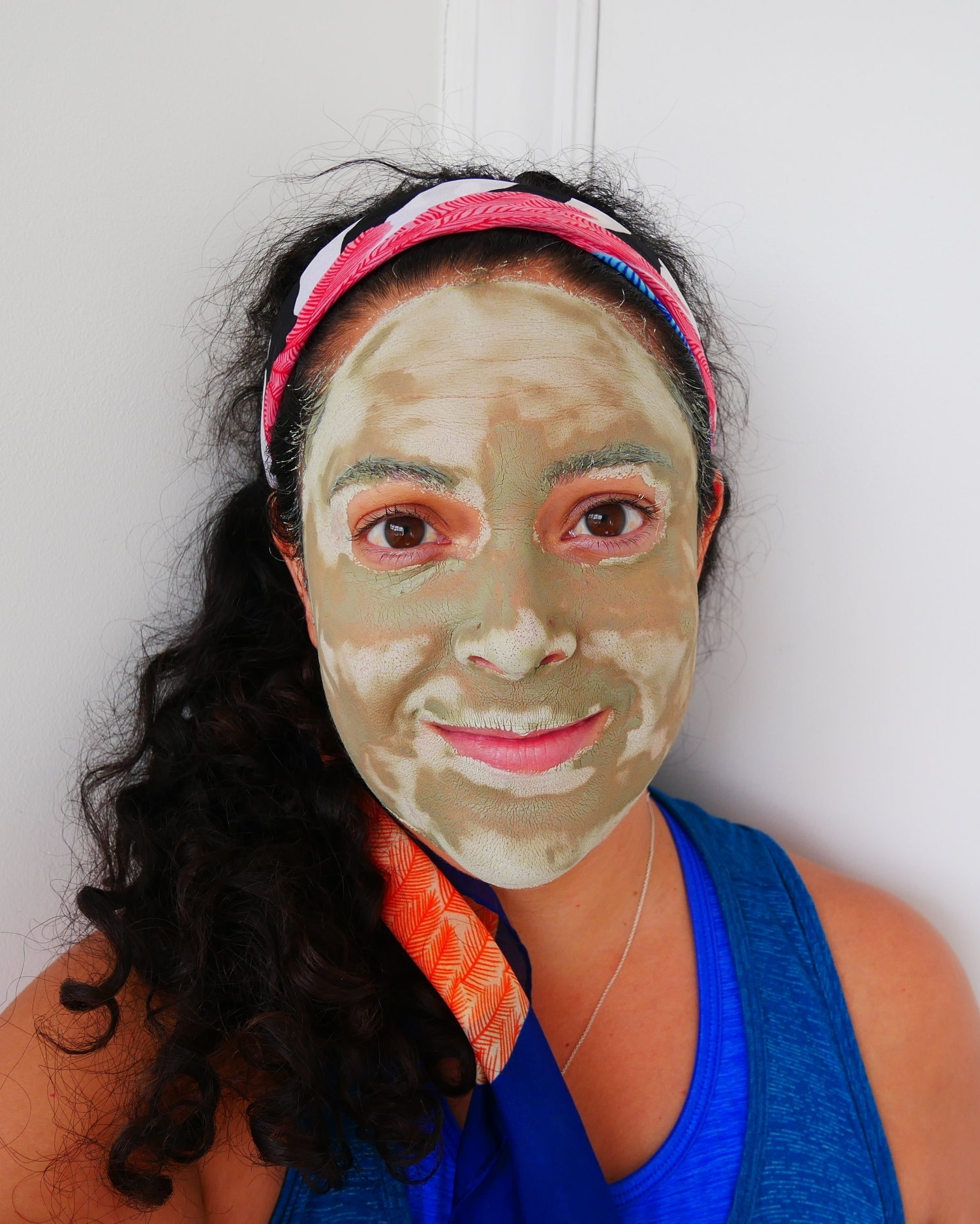 With the Umbrian clay mask