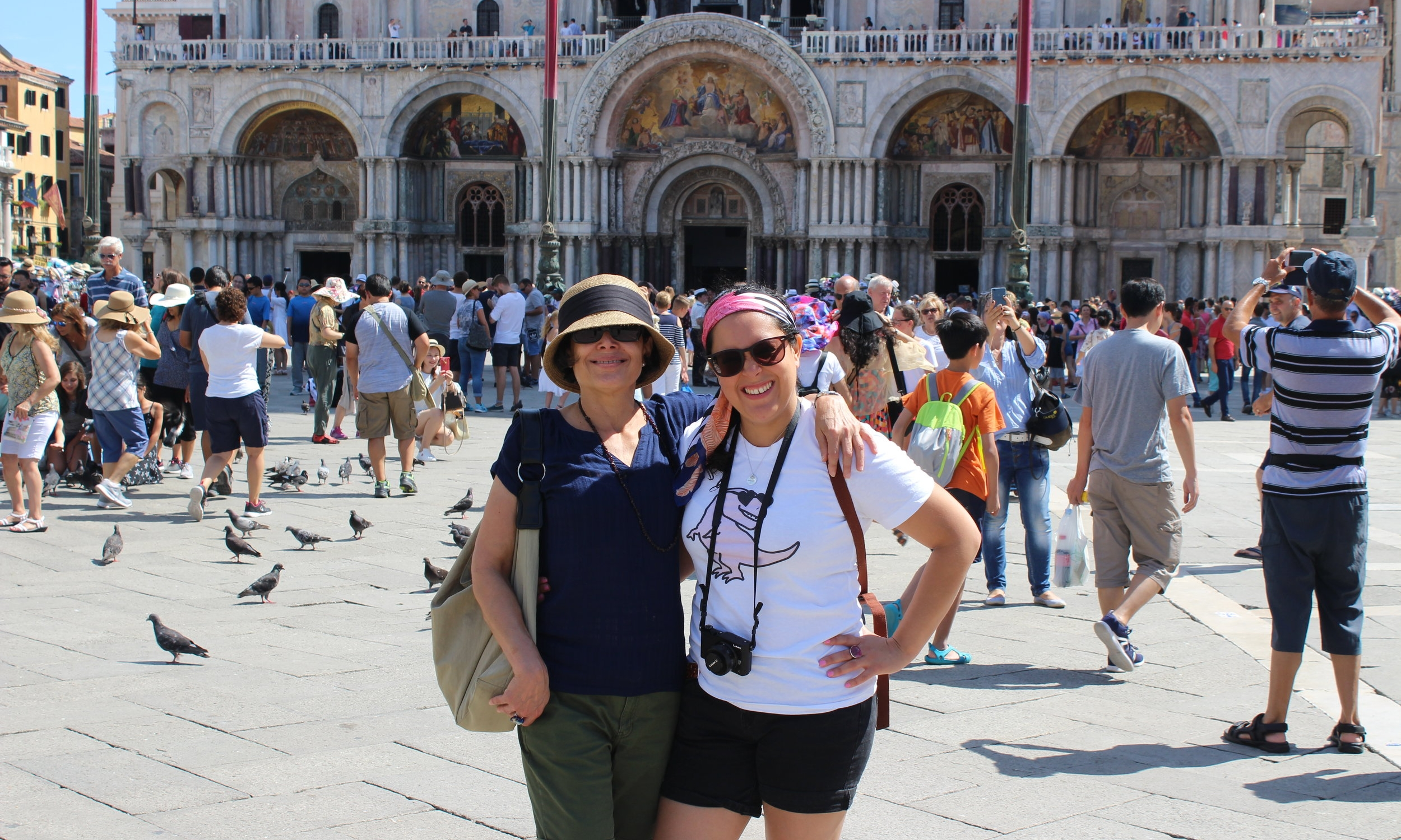 Mother and daughter in St. Mark's Square