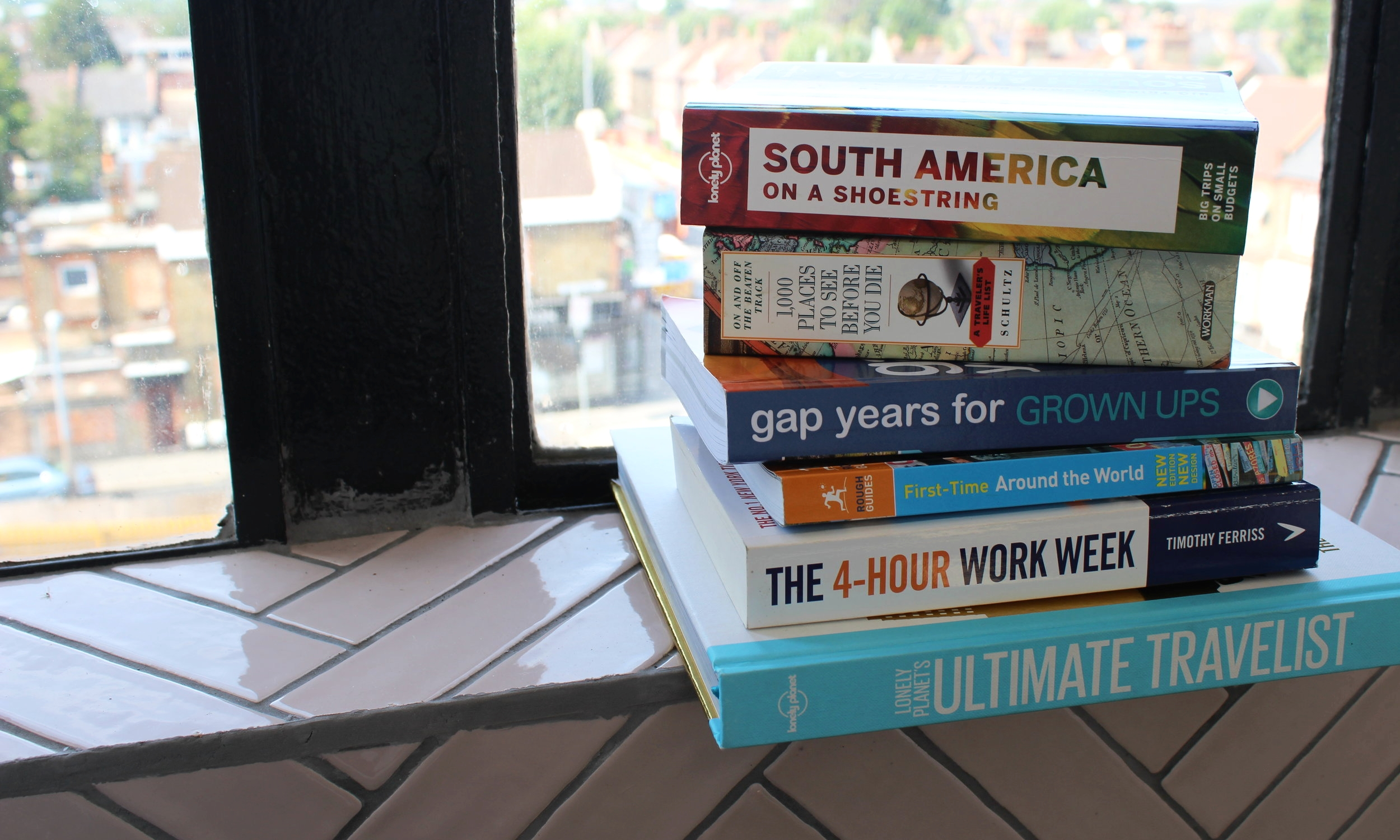 An my reading essentials for my backpacking trip around the world