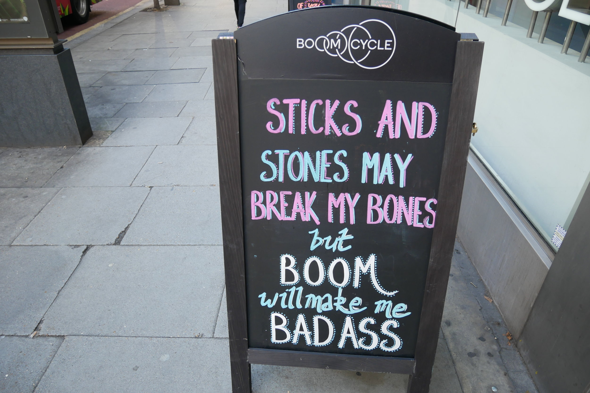 I always love the cheeky Boom Cycle signs