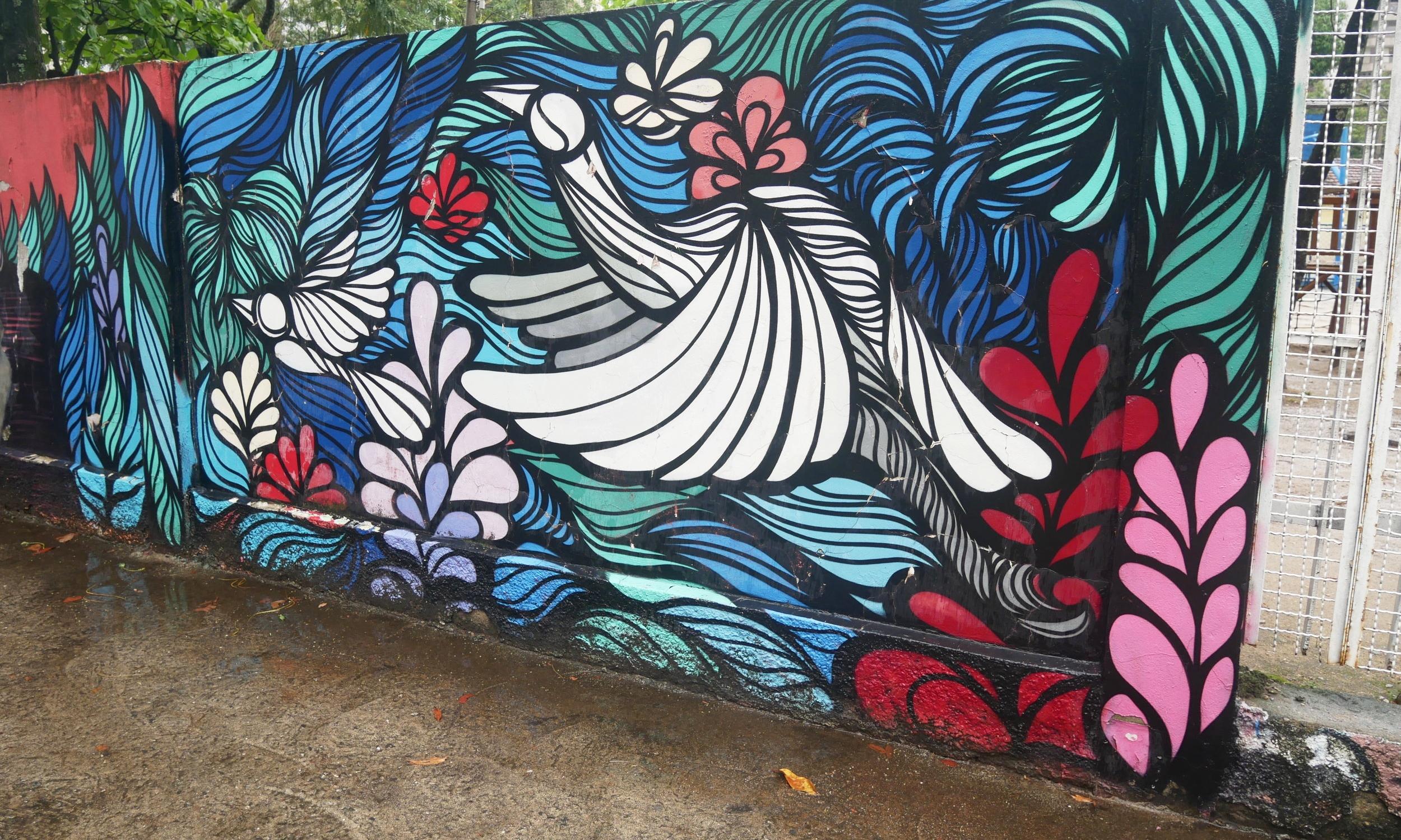 Beautiful street art in Rio