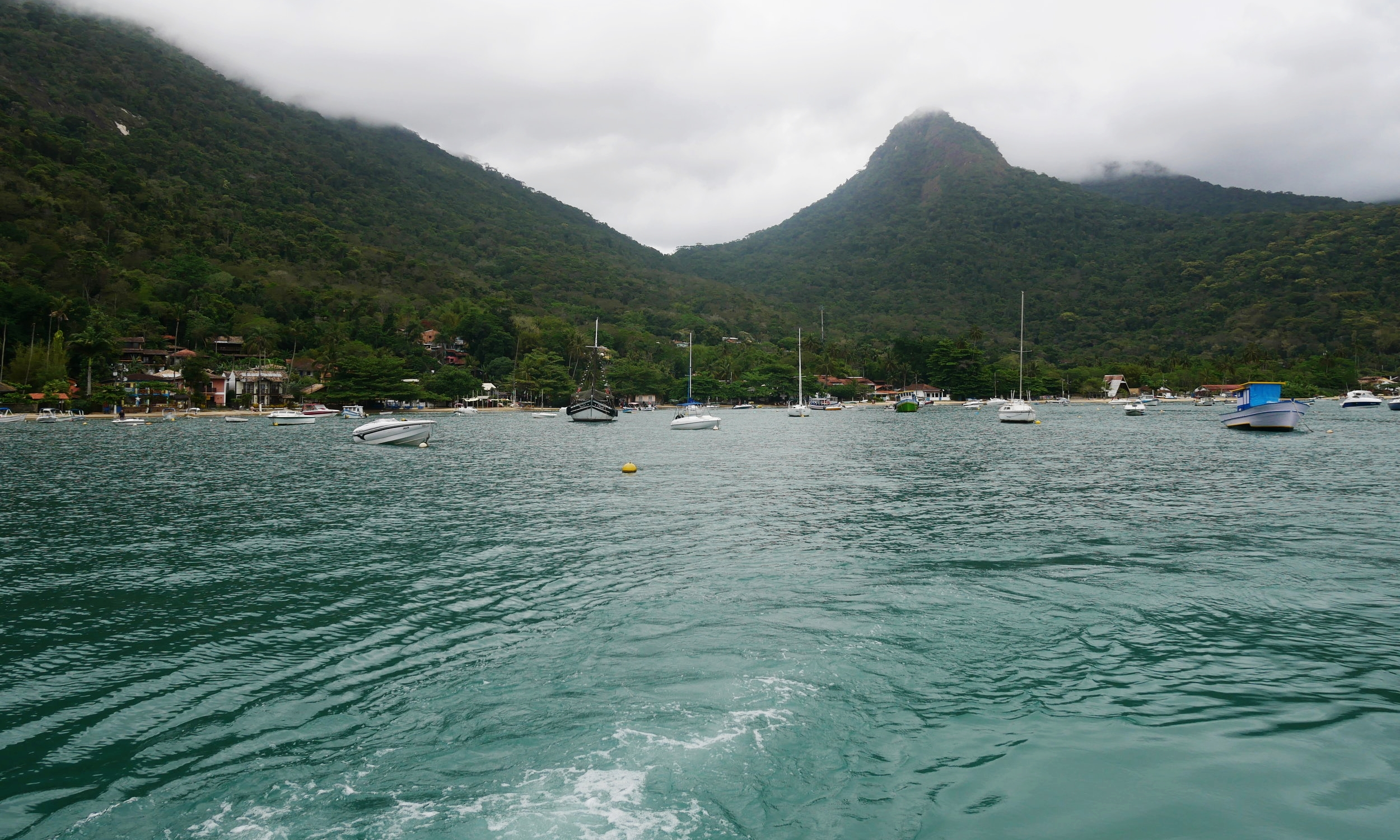 Our ferry arriving at the stunning Ilha Grande