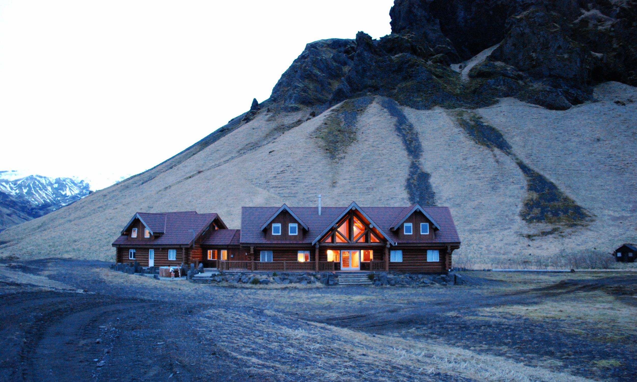 Log cabins in Iceland. We didn't ski but I'm sure log cabins in ski resorts are just as cute?