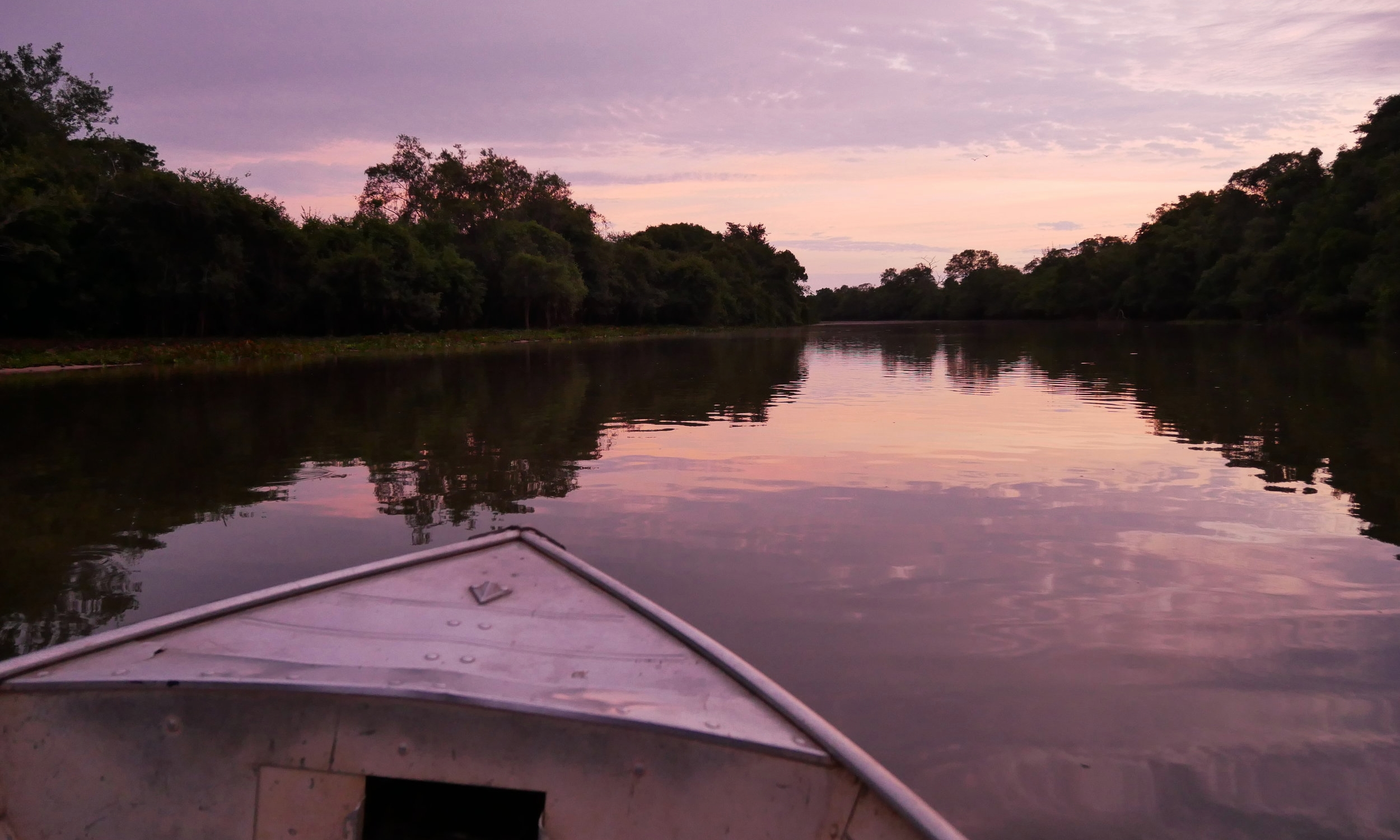 Sunrise over the rivers of the Pantanal