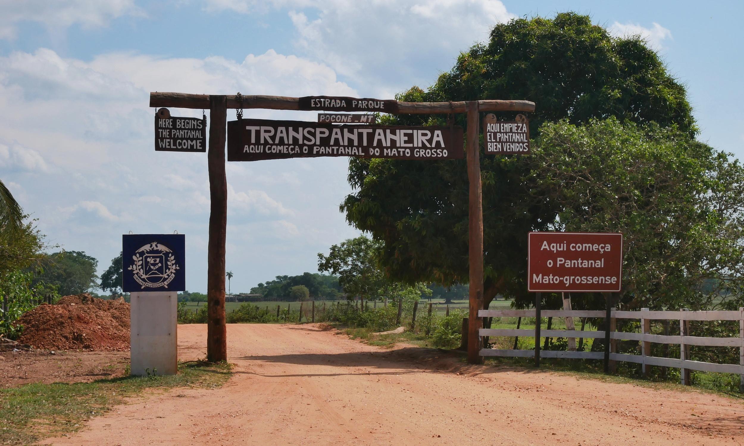 Entrance to the Pantanal