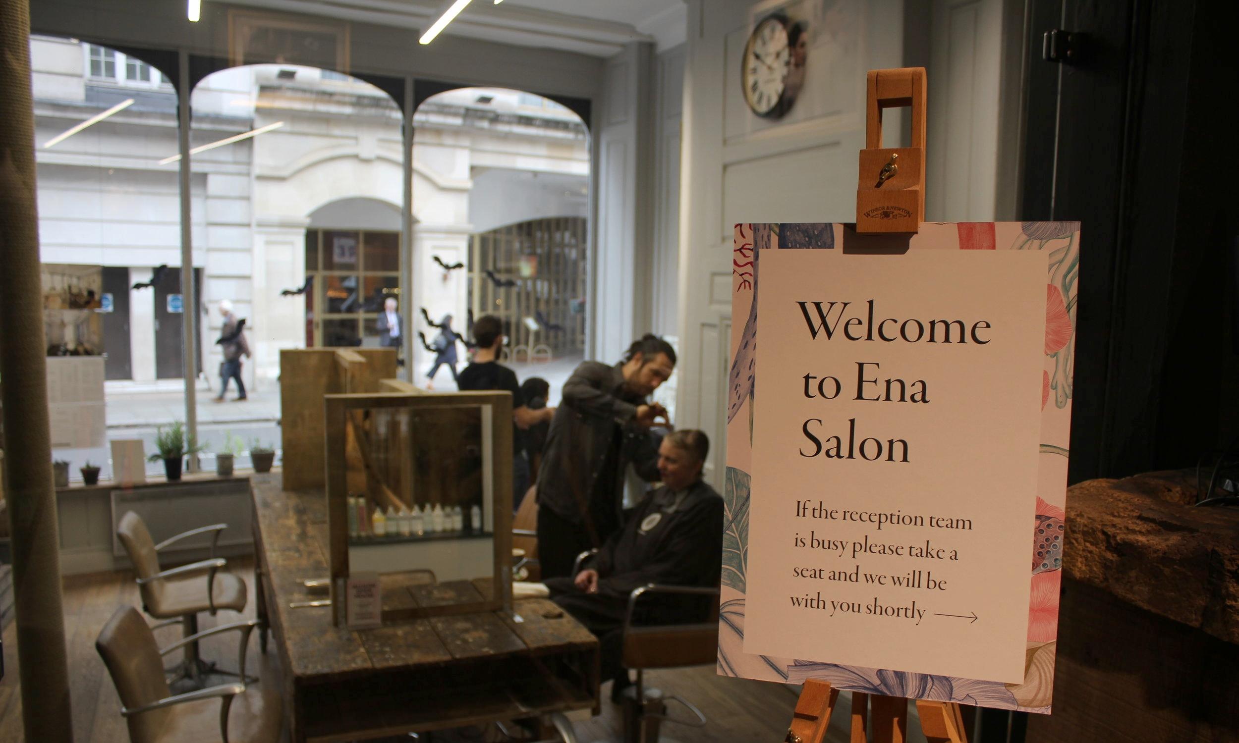 Stylists working their magic at Ena Salon