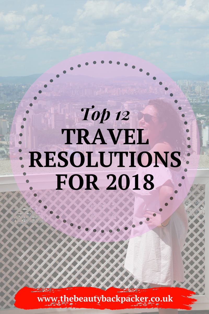 Top 12 Travel Resolutions 2018