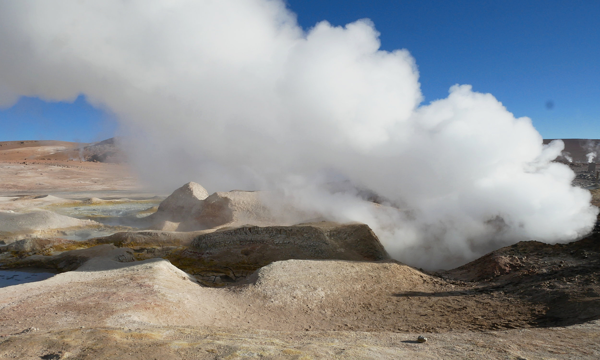 Watching the geysers in action