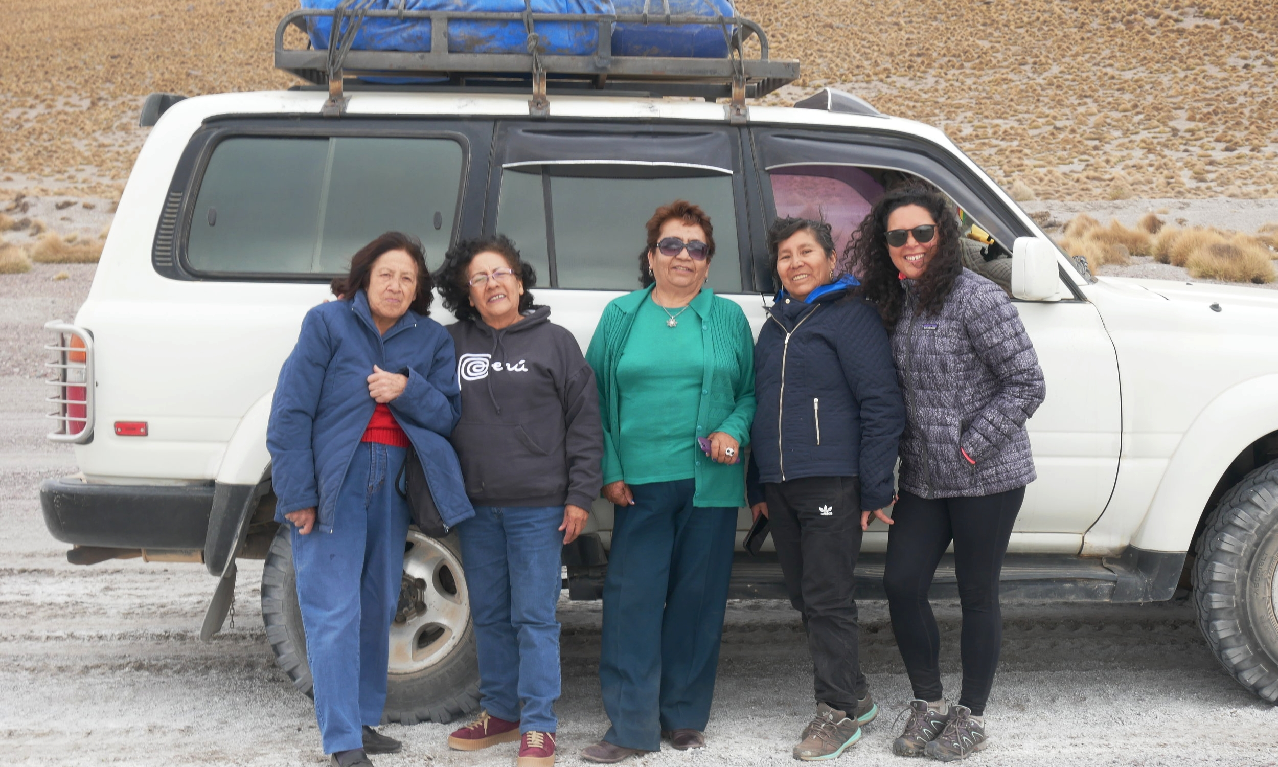 With my unexpected tour group grandmas, who ended up taking good care of me