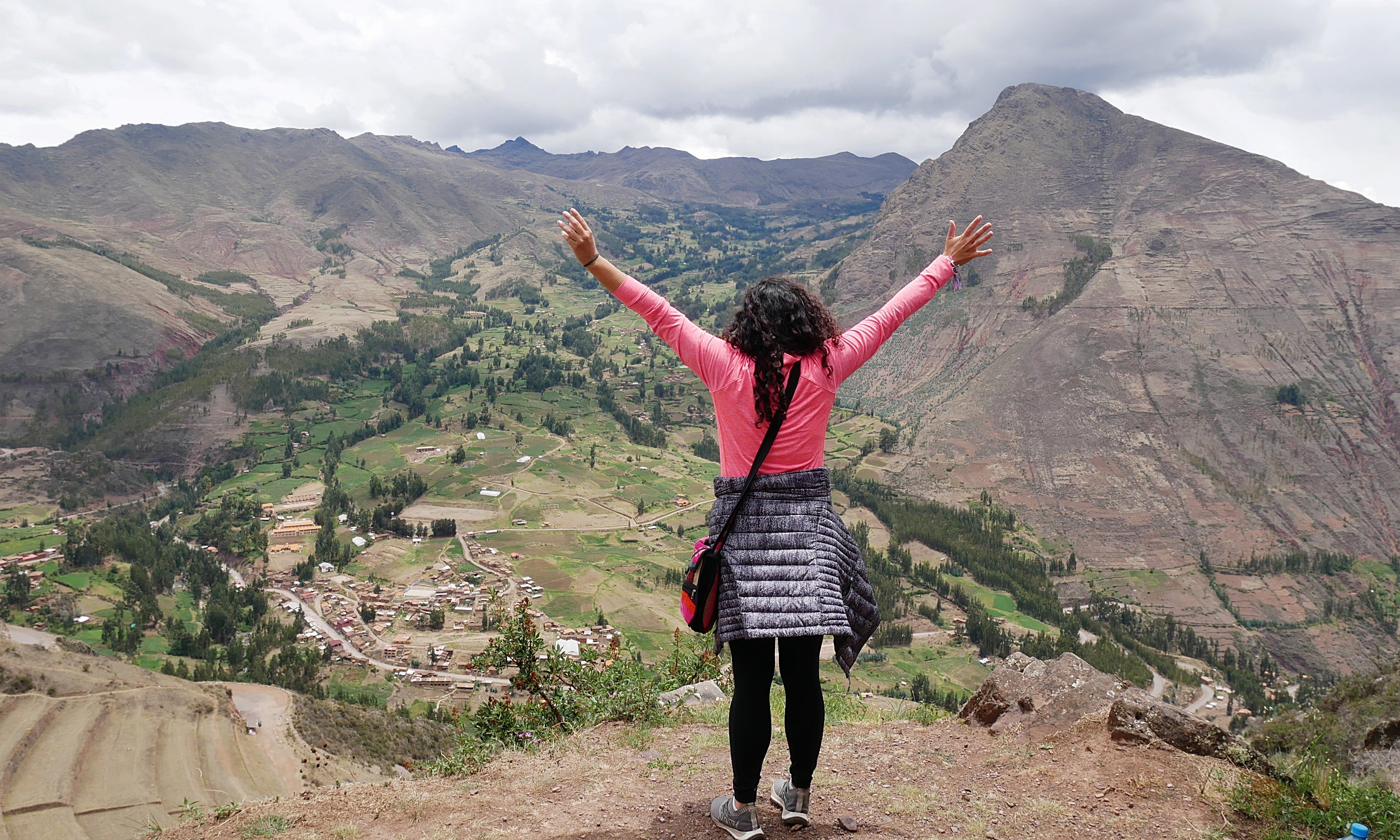 Enjoying the views in the Sacred Valley