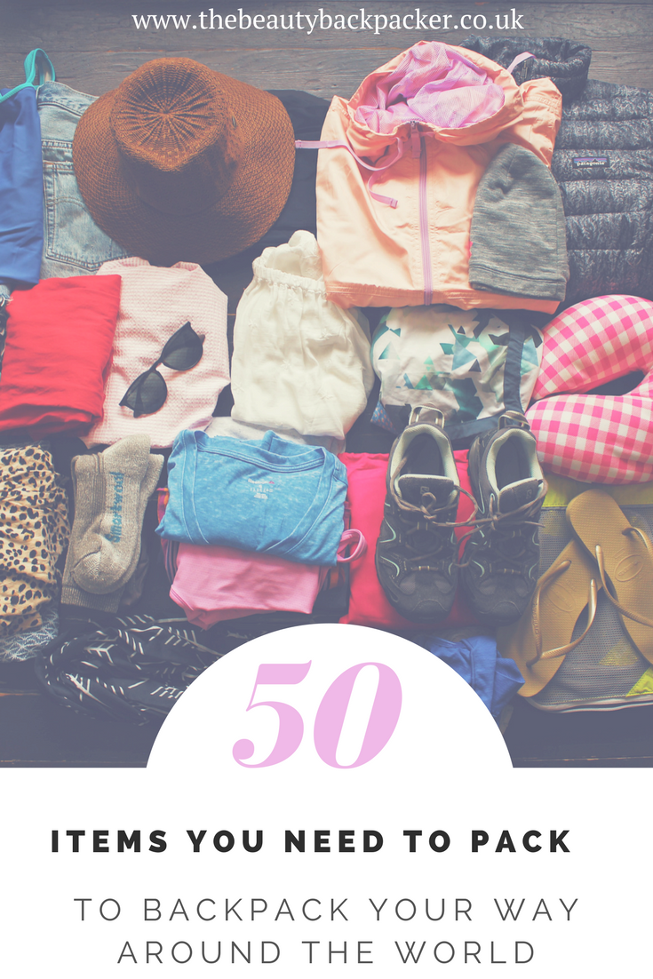 50 items you need to pack to backpack your way around the world