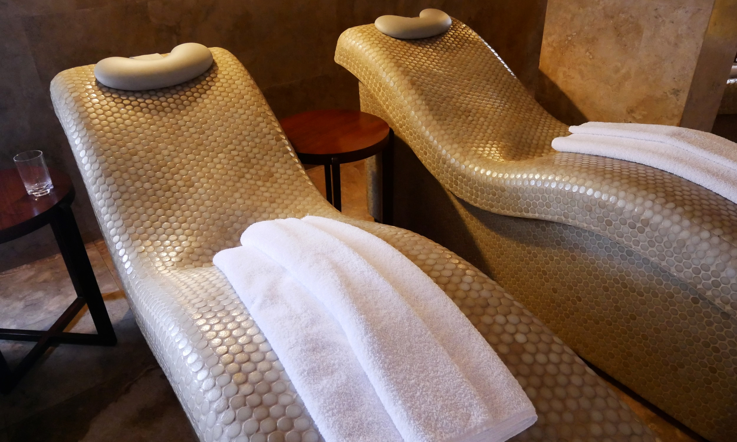 Chaise longue chillout in the spa's Relaxation Room