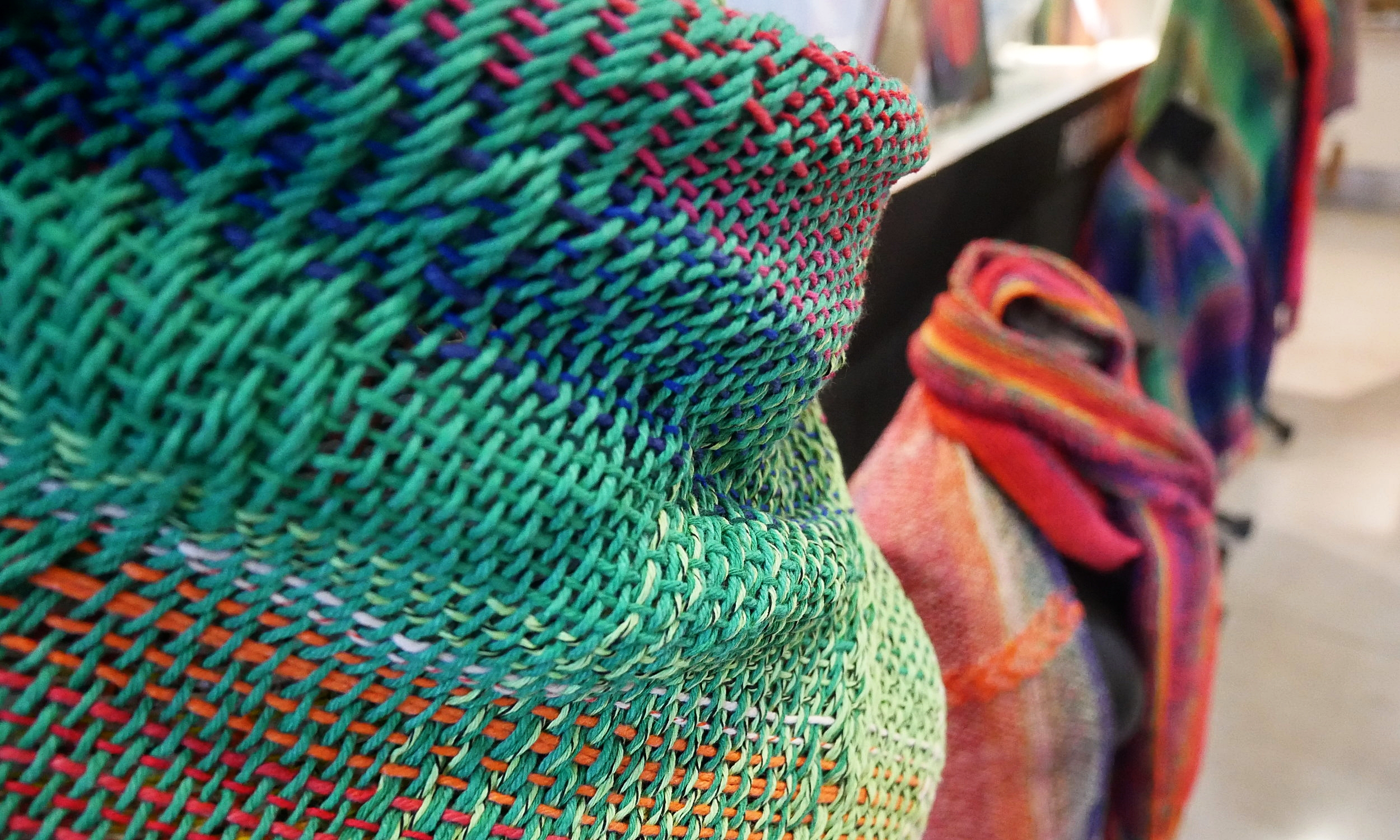 Beautifully designed scarves in the museum shop