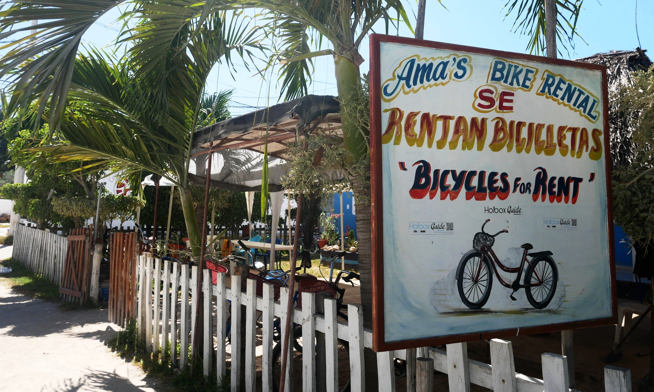 Ama's, my favoutie bike rental shop in Holbox