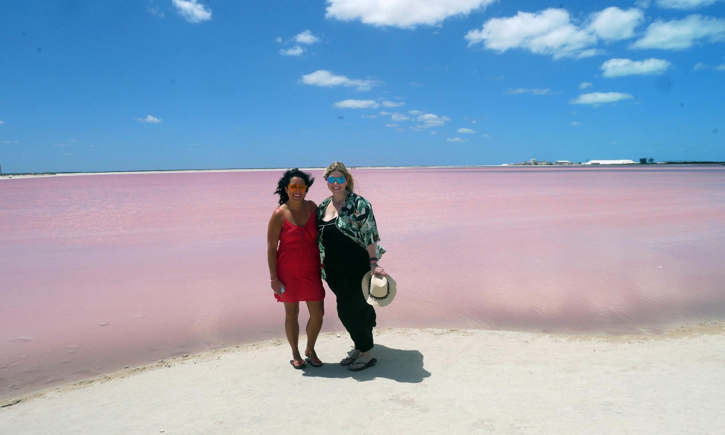 las coloradas pink lake mexico two week yucatan trip