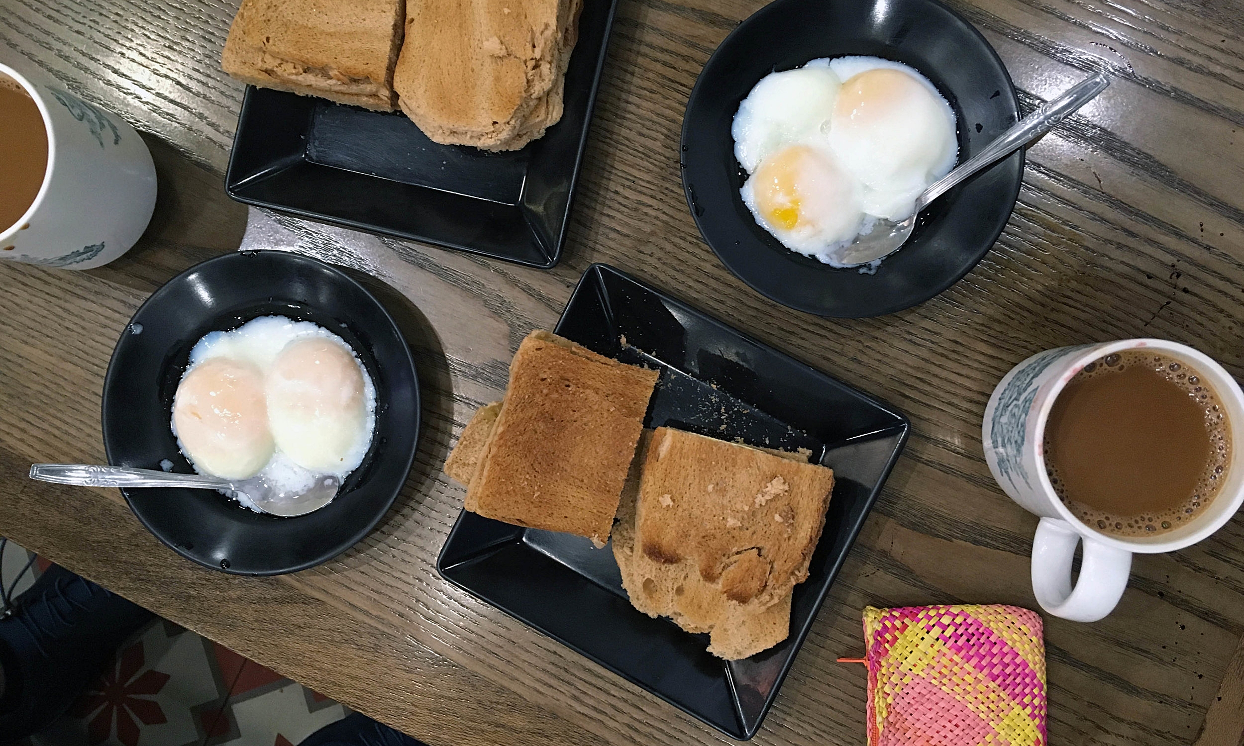 Kaya toast, our very first meal in Singapore