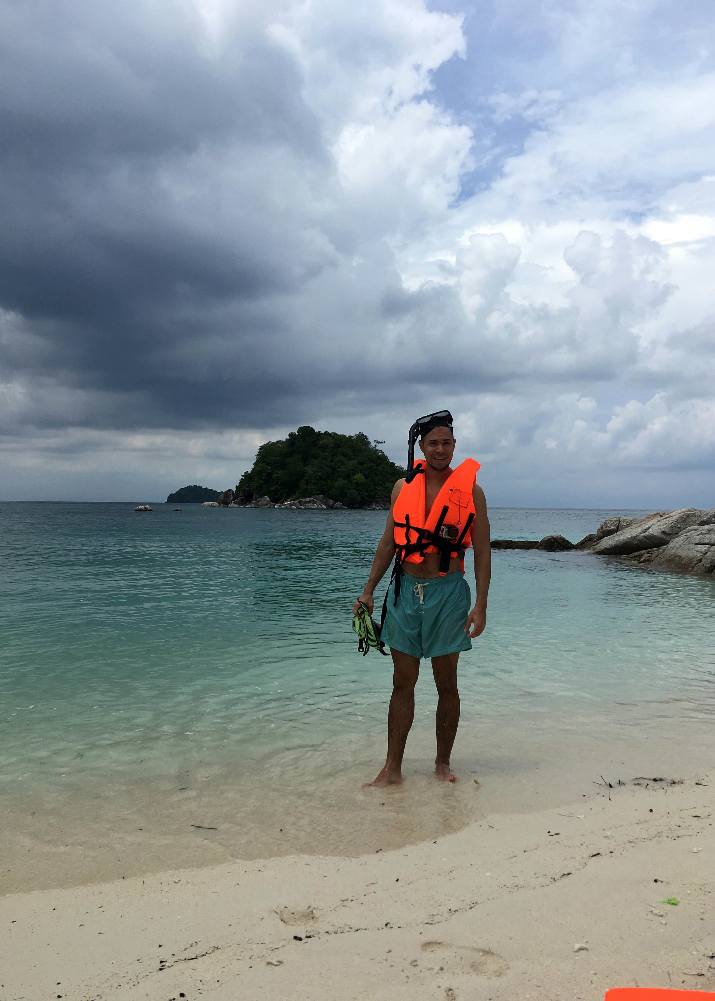 Getting ready to snorkel off of Sunrise Beach, Koh Lipe