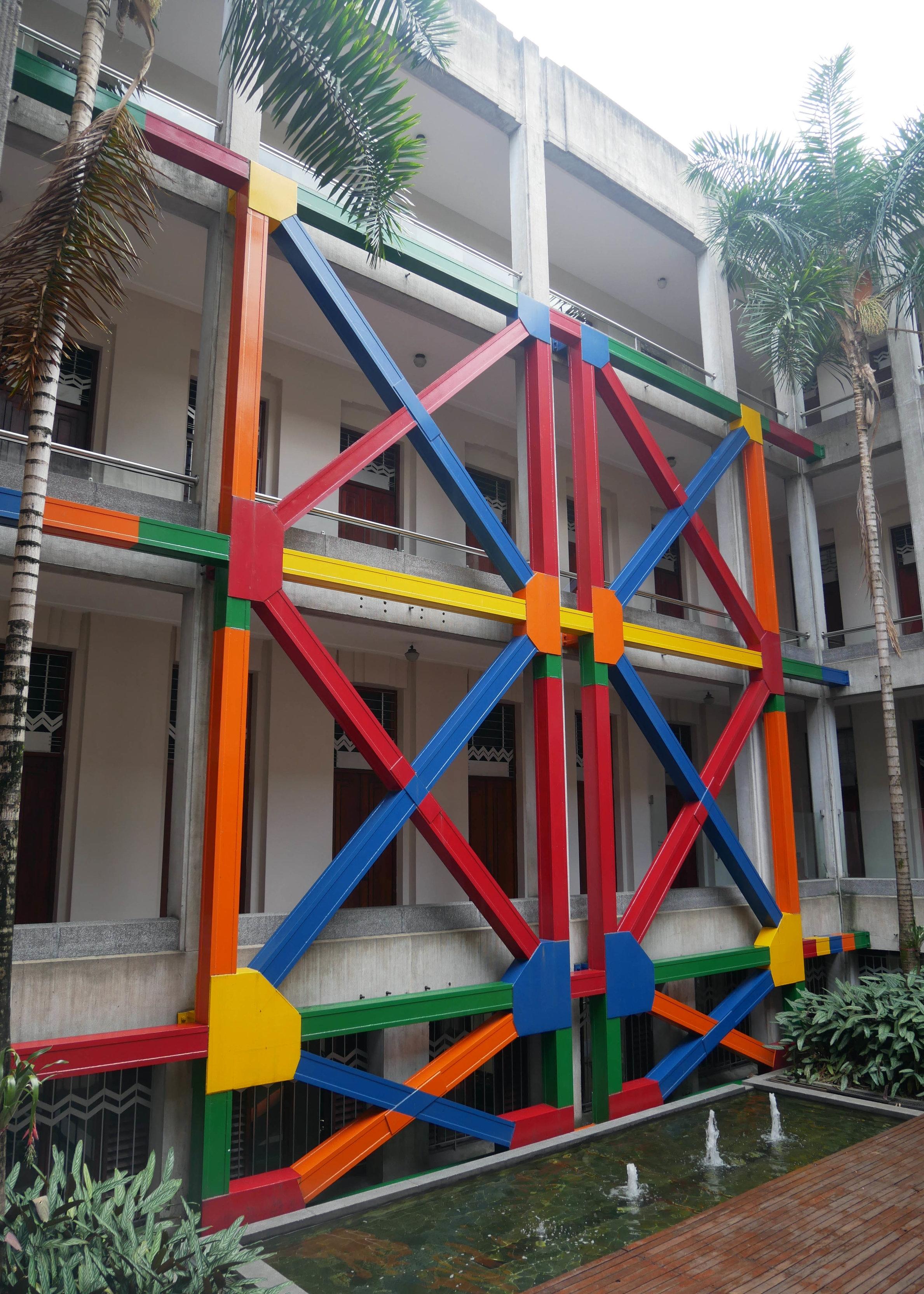 Museo de Antioquia's indoor courtyard