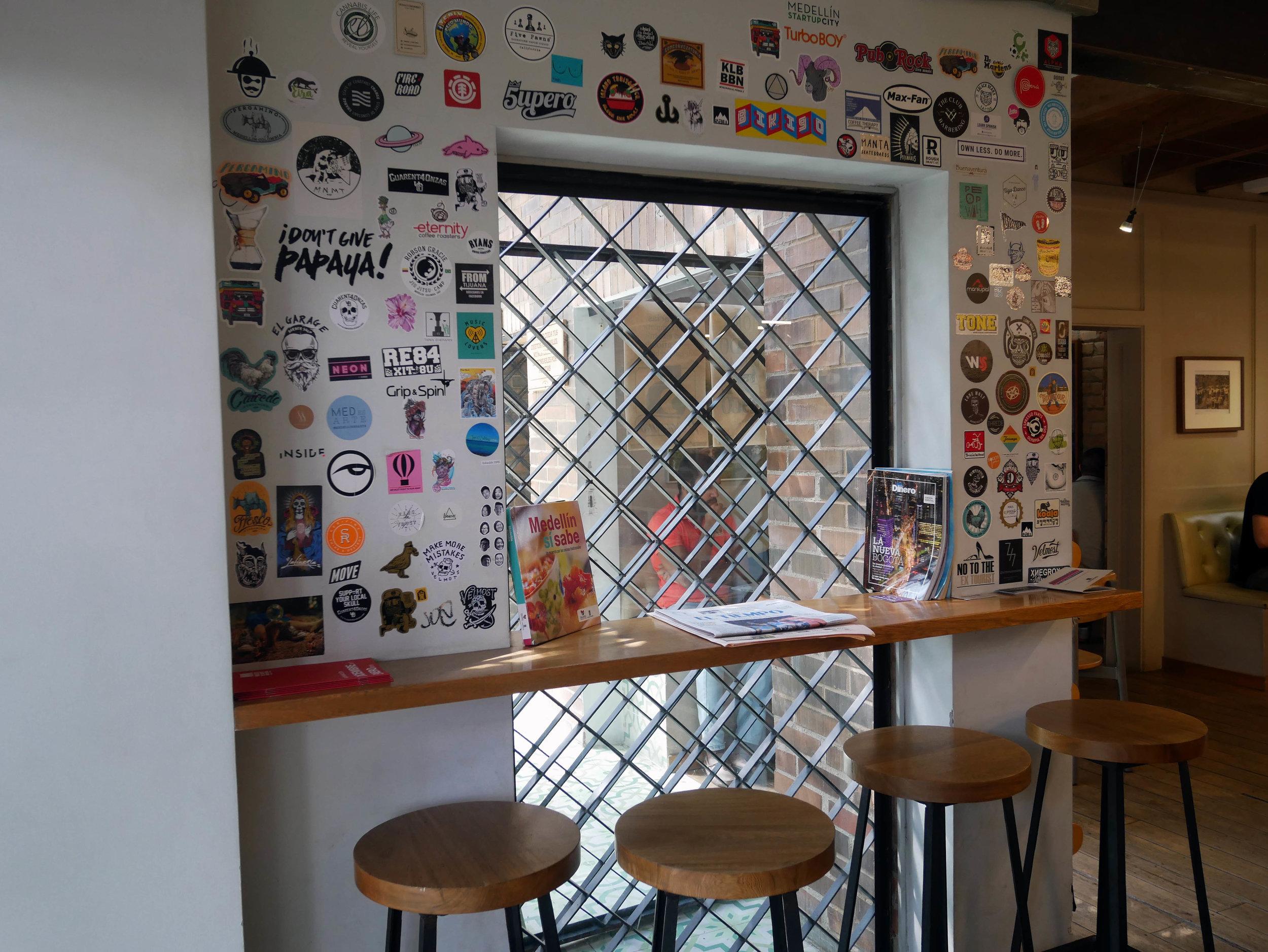 Pergamino coffee interiors and seating
