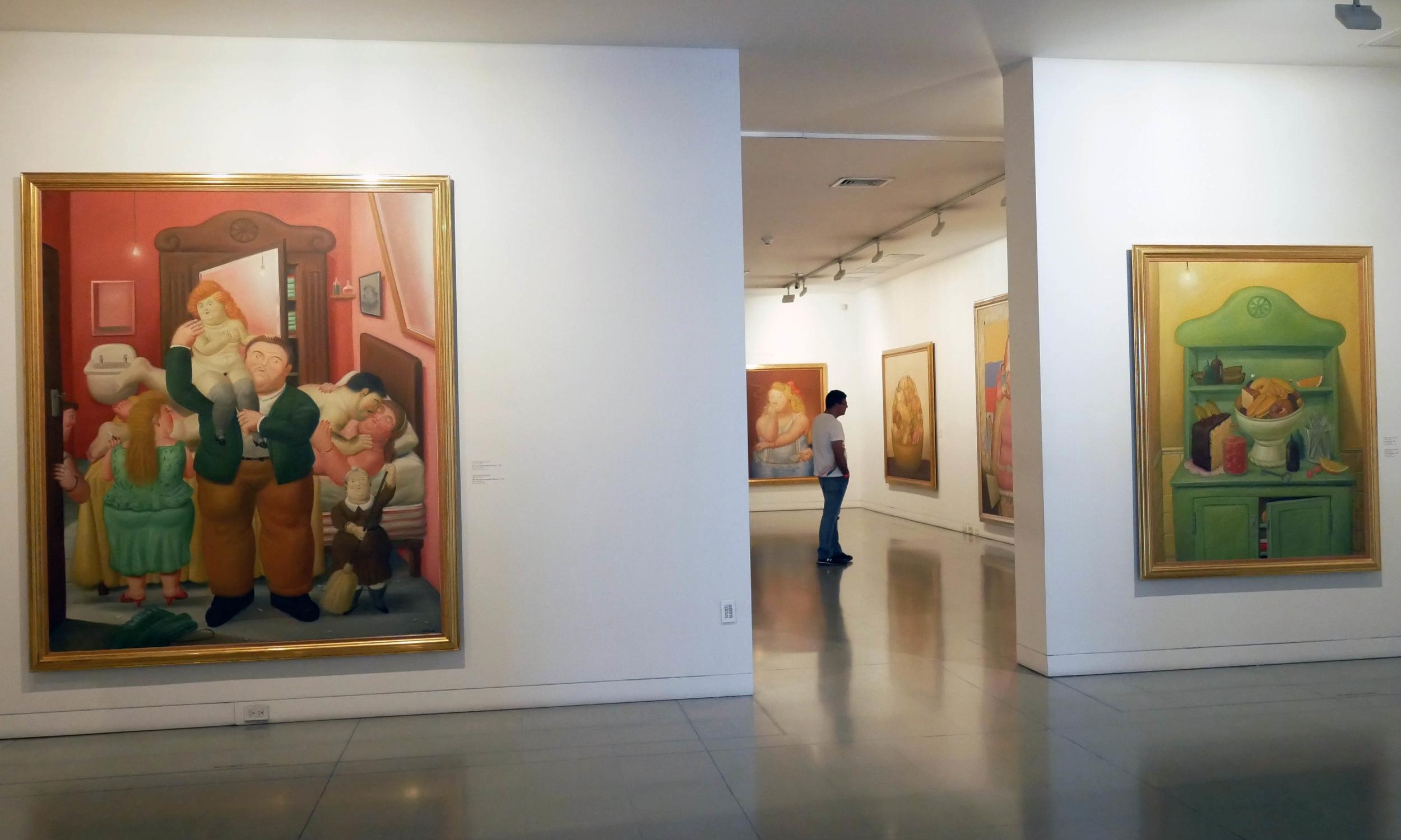 Botero paintings in the Museo de Antioquia