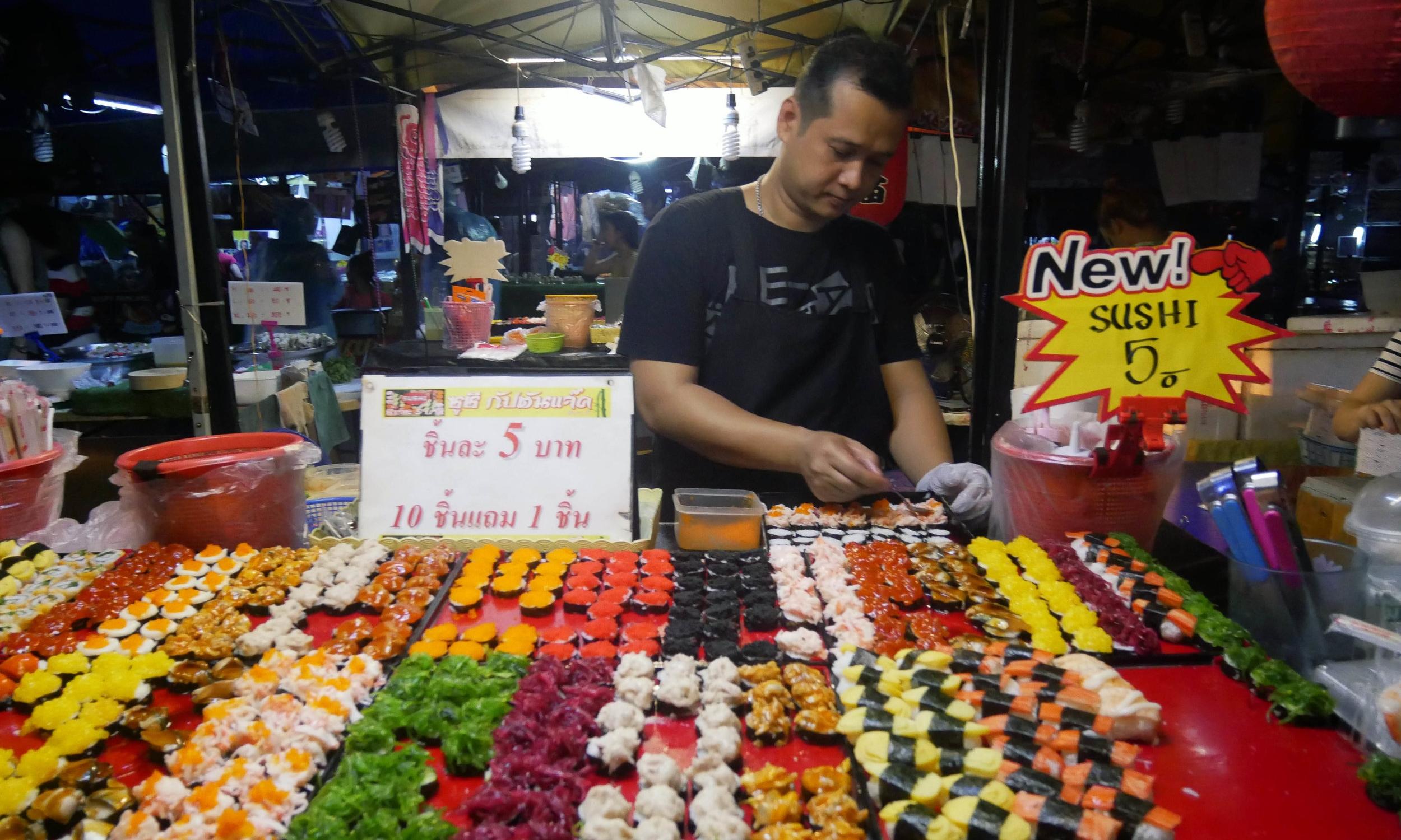 Sushi at Rot Fai Market