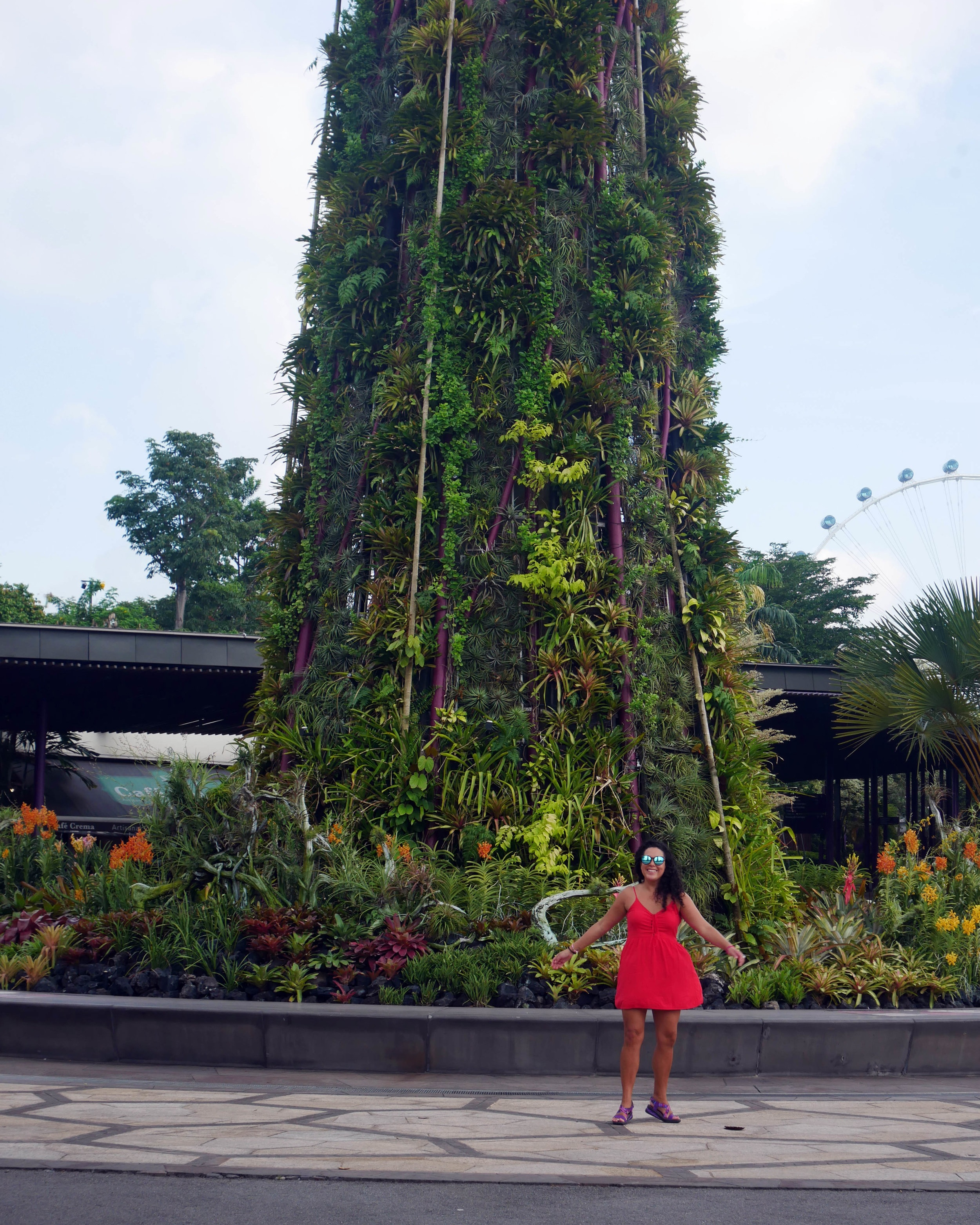 Swirling around in Gardens By Bay, Singapore