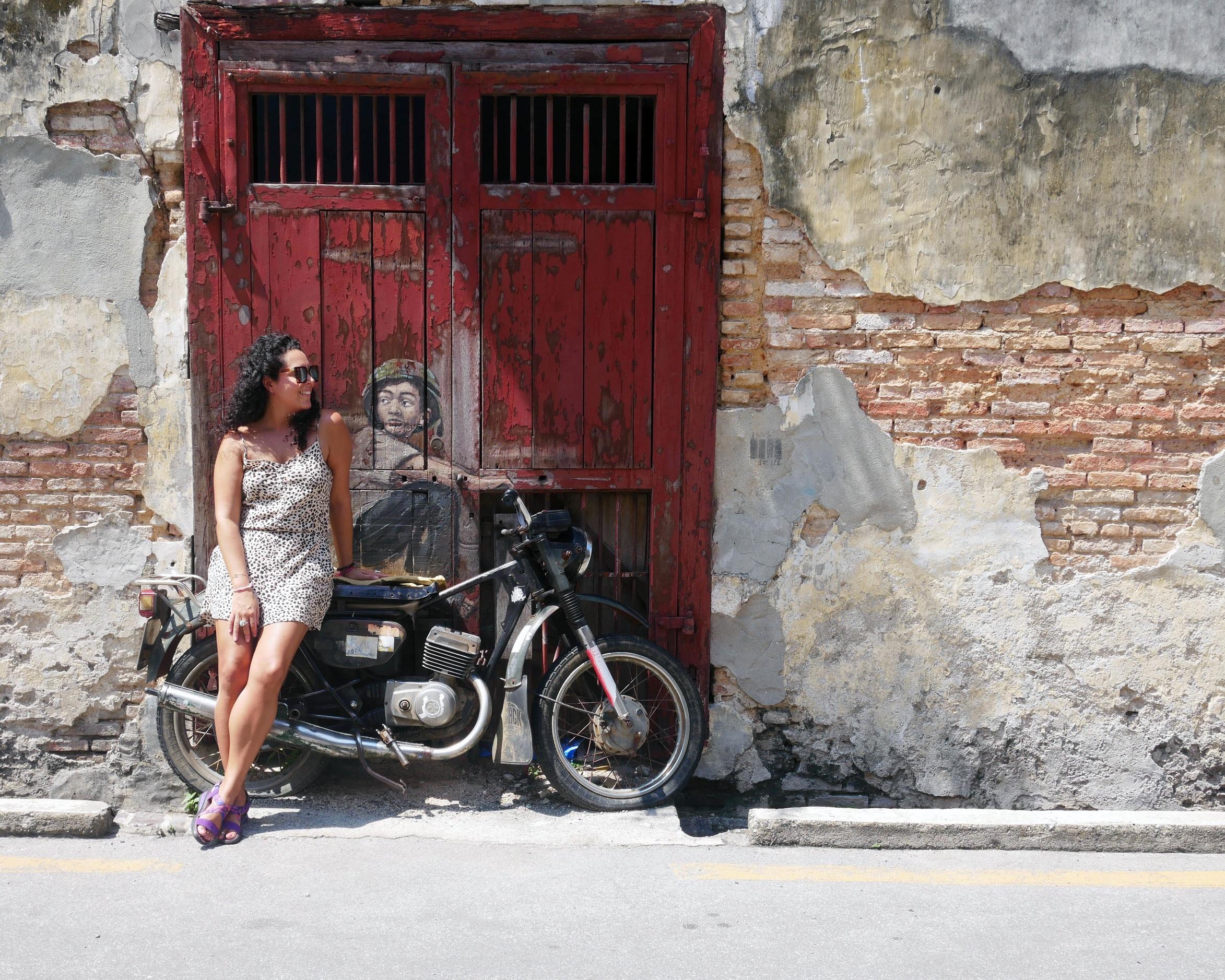 Becoming a motorcycle babe in Penang, Malaysia