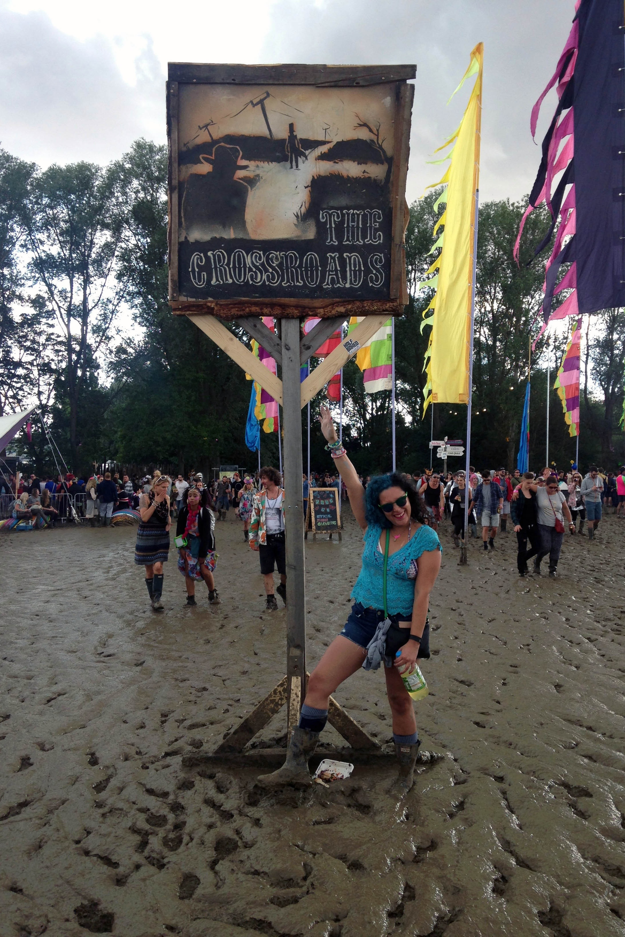 Going all in at my first proper music festival, Secret Garden Party. Yes, it was VERY muddy.