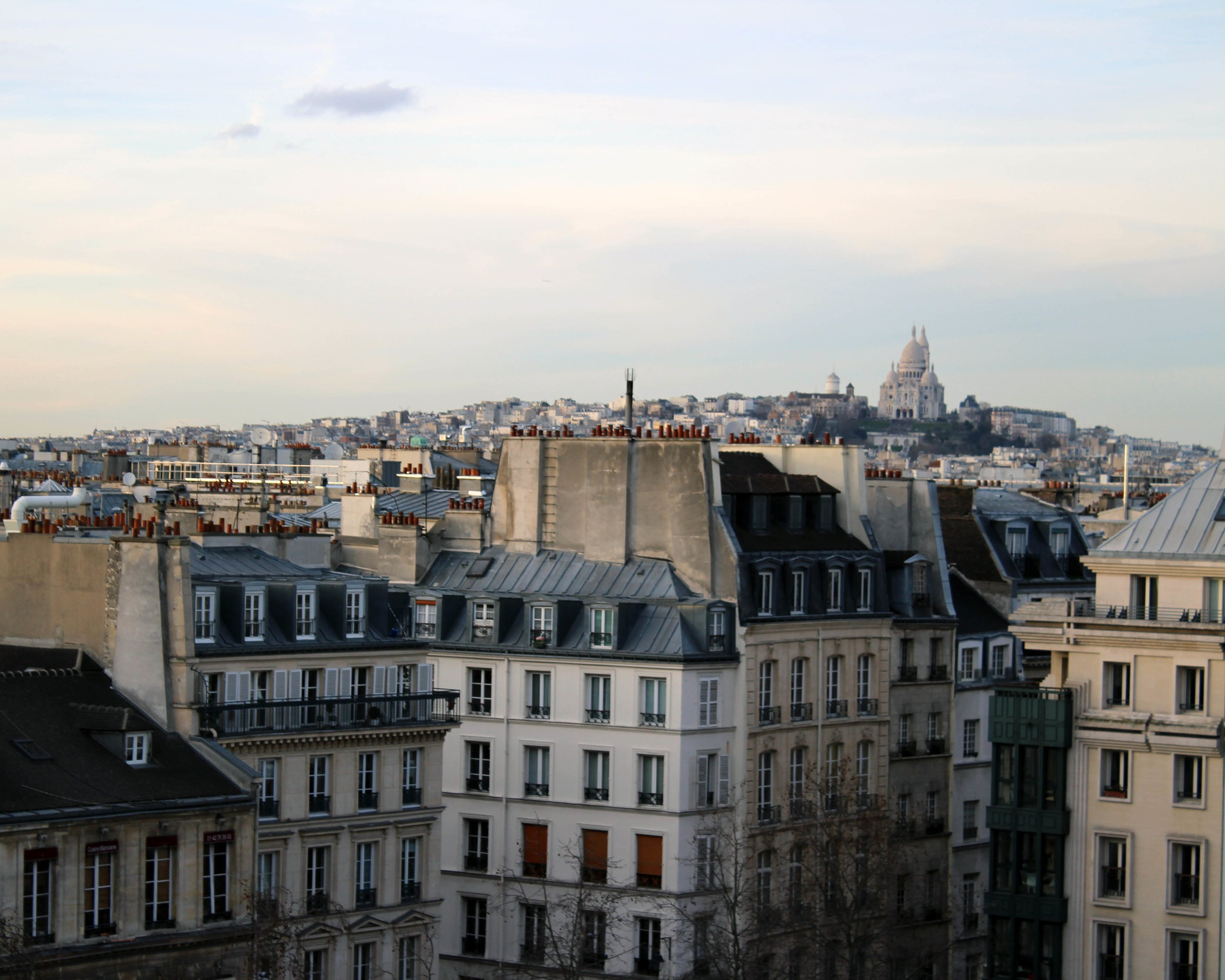 Paris rooftops. And the first European city I want to return to next year