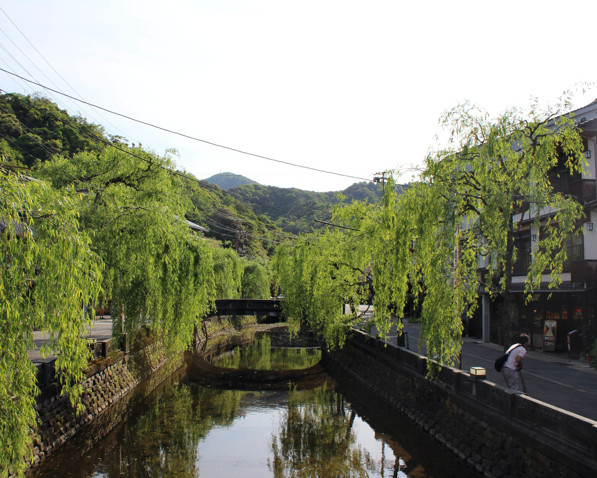 Kinosaki's willow-linked streets along the Otani-gawa River