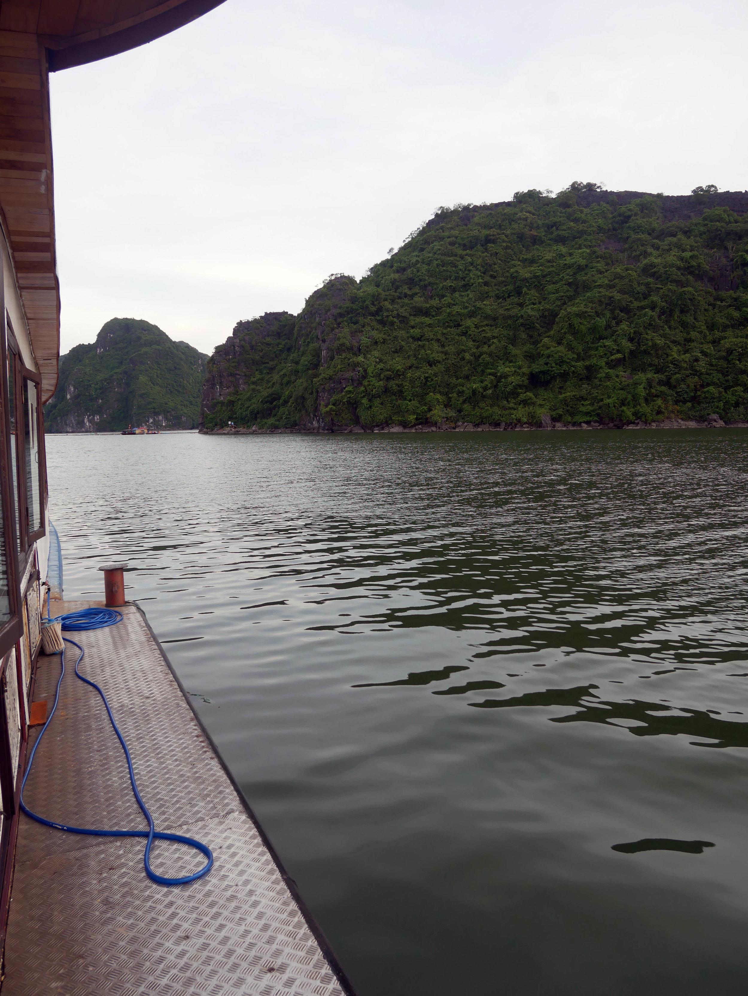 Halong Bay cruise take-off
