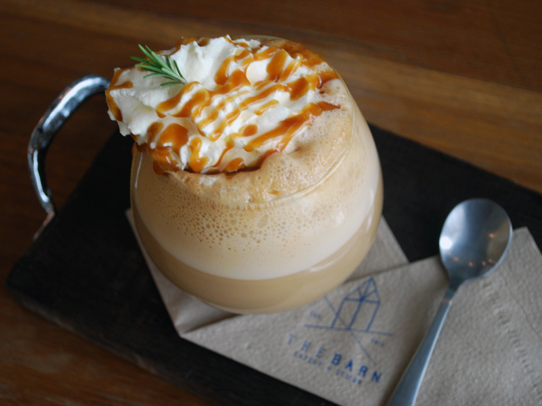 A delicious latte at Chiang Mai's The Barn, Eatery Cafe