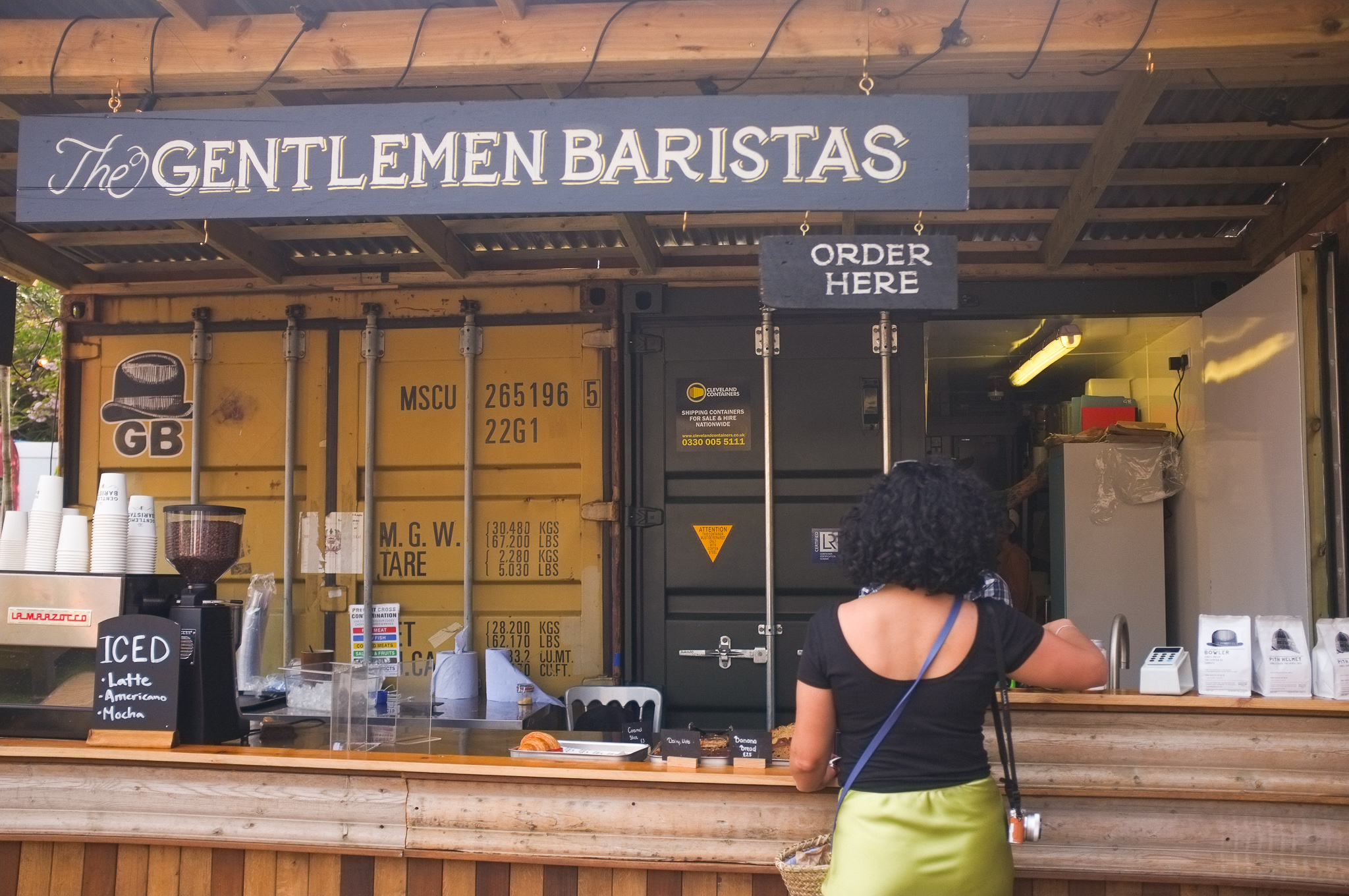 Grabbing a Turmeric Latte at Gentlemen Baristas in Vinegar Yard, Bermondsey
